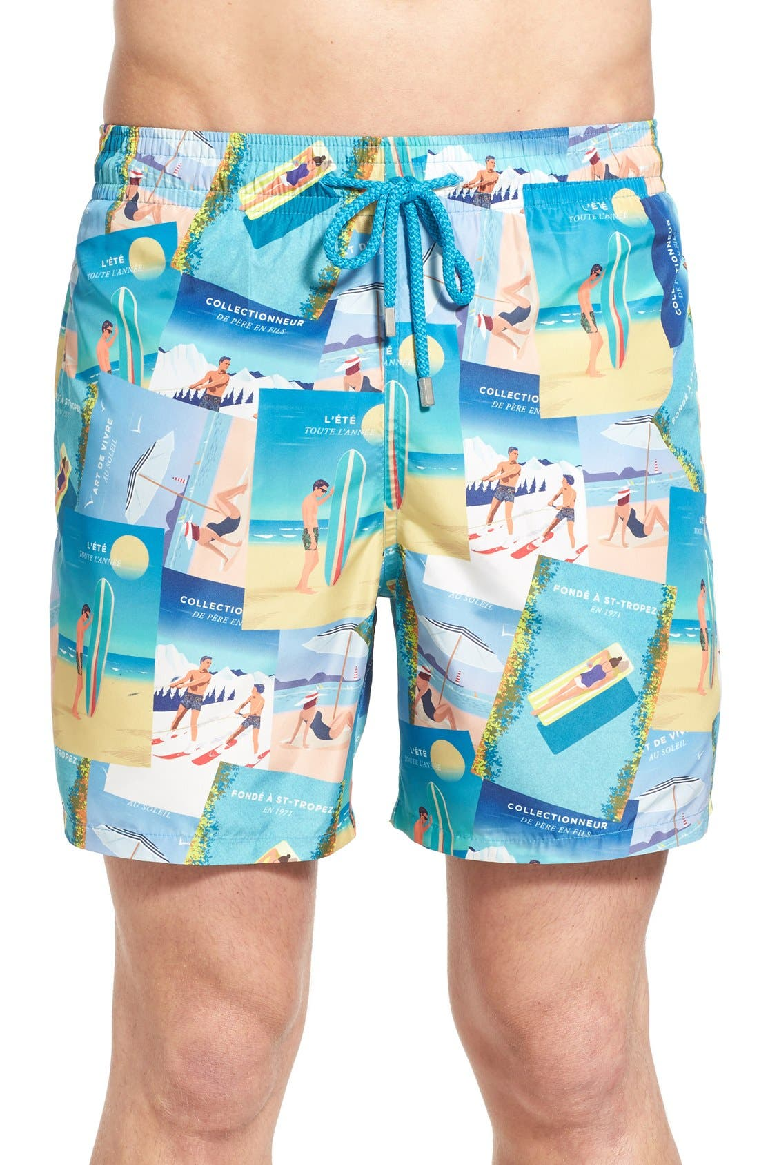 VILEBREQUIN 'Mahina' Print Swim Trunks