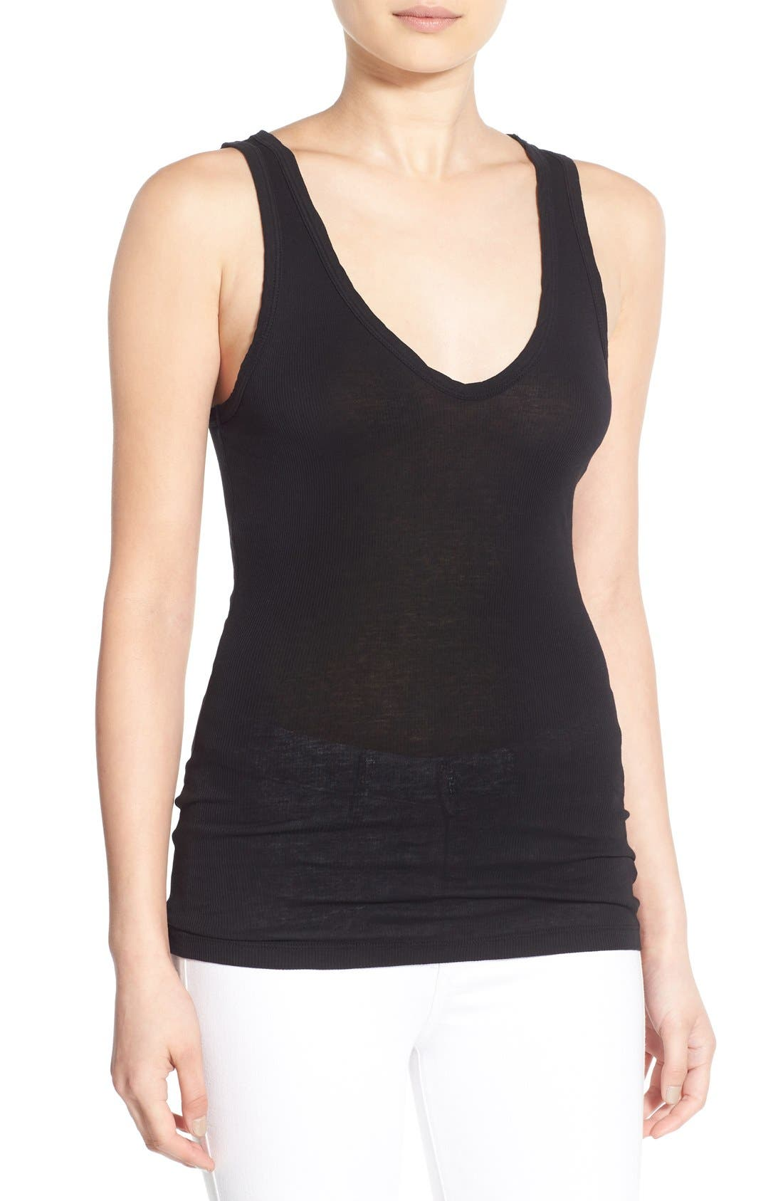 Alternate Image 1 Selected - James Perse Fitted V-Neck Tank