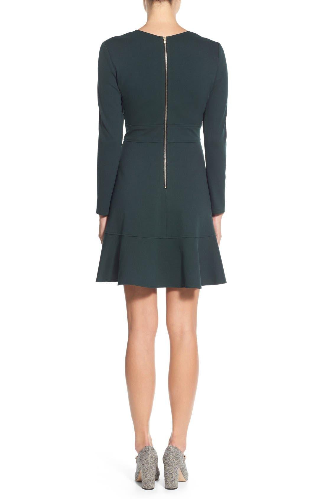 Alternate Image 2  - Eliza J Ruffle Hem Stretch Fit & Flare Dress