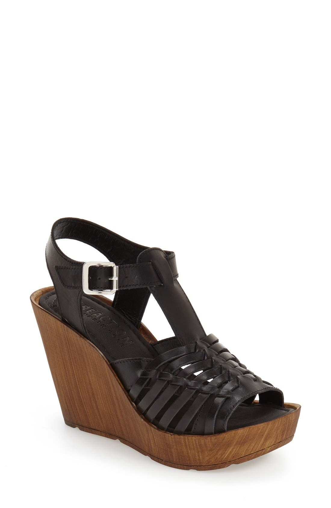 Alternate Image 1 Selected - Reaction Kenneth Cole 'Capellini' Wedge Sandal (Women)
