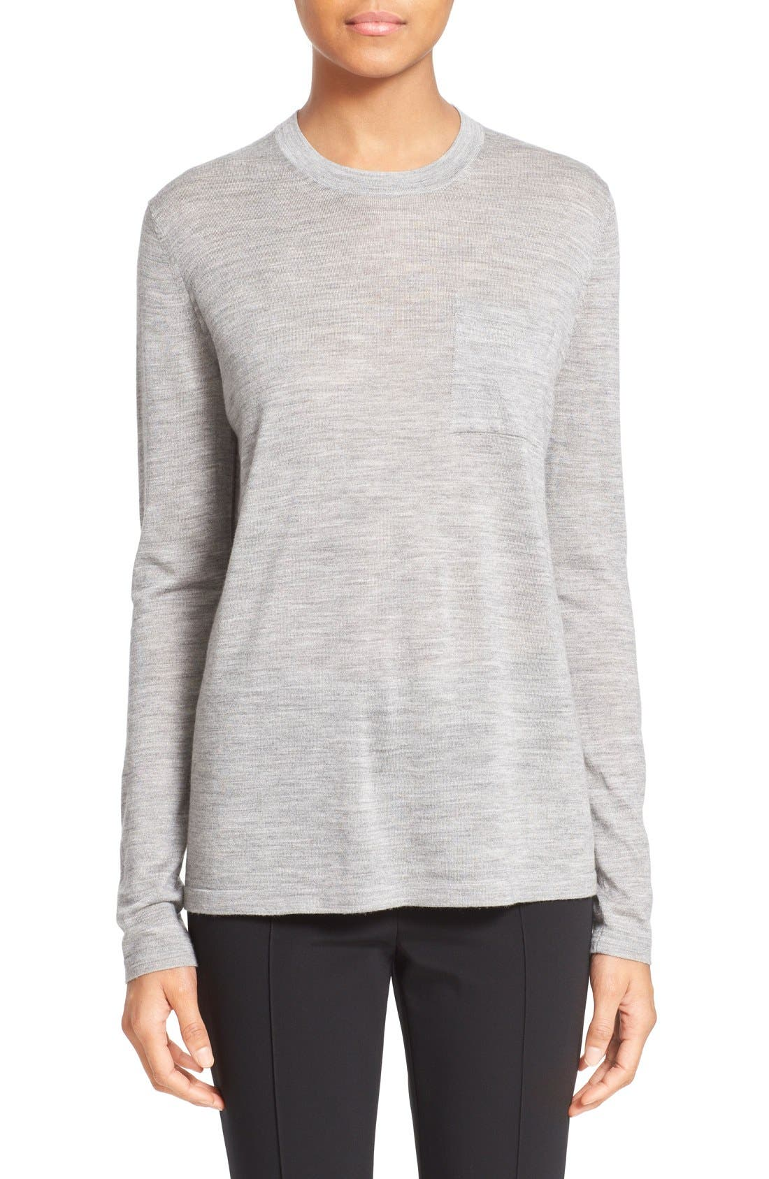 ALEXANDER WANG Wool & Silk Crewneck Sweater