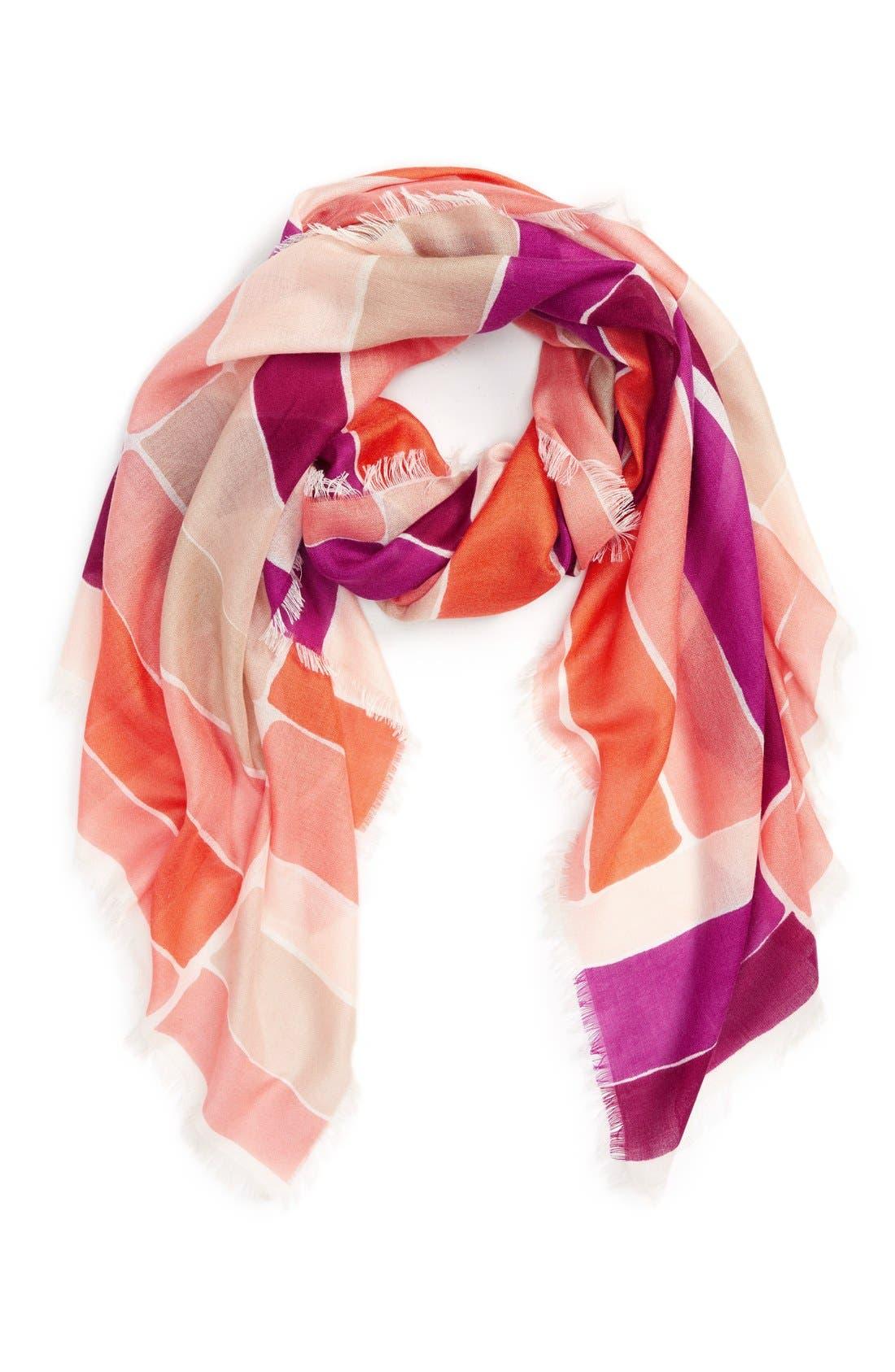 Alternate Image 1 Selected - Nordstrom Stripe Cashmere & Silk Scarf