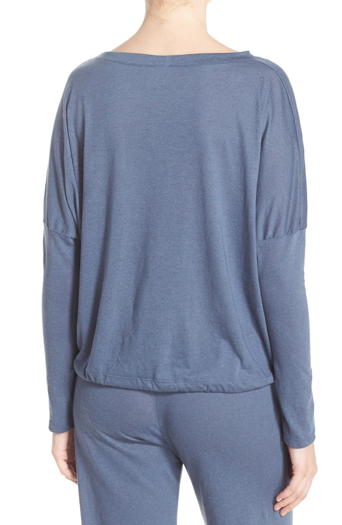 Alternate Image 2  - Eberjey Heather Knit Slouchy Tee