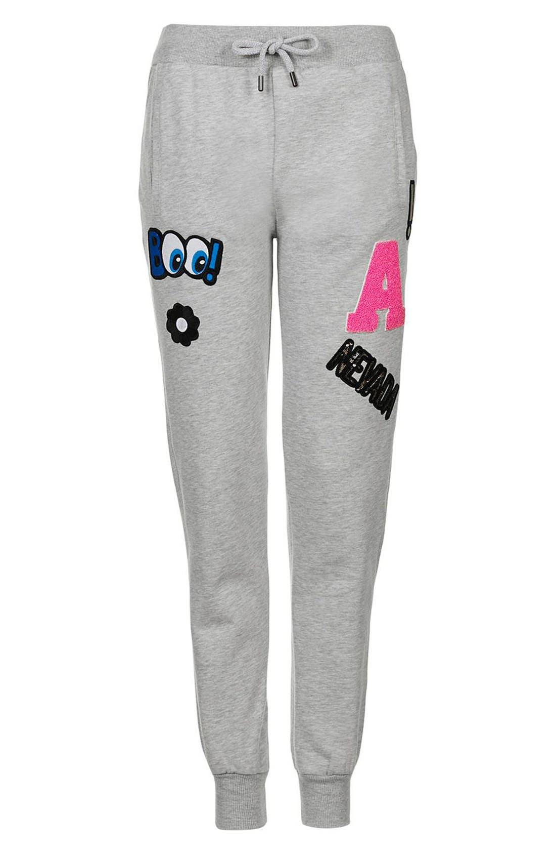 Alternate Image 4  - Topshop Badged Jogger Pants (Regular & Petite)
