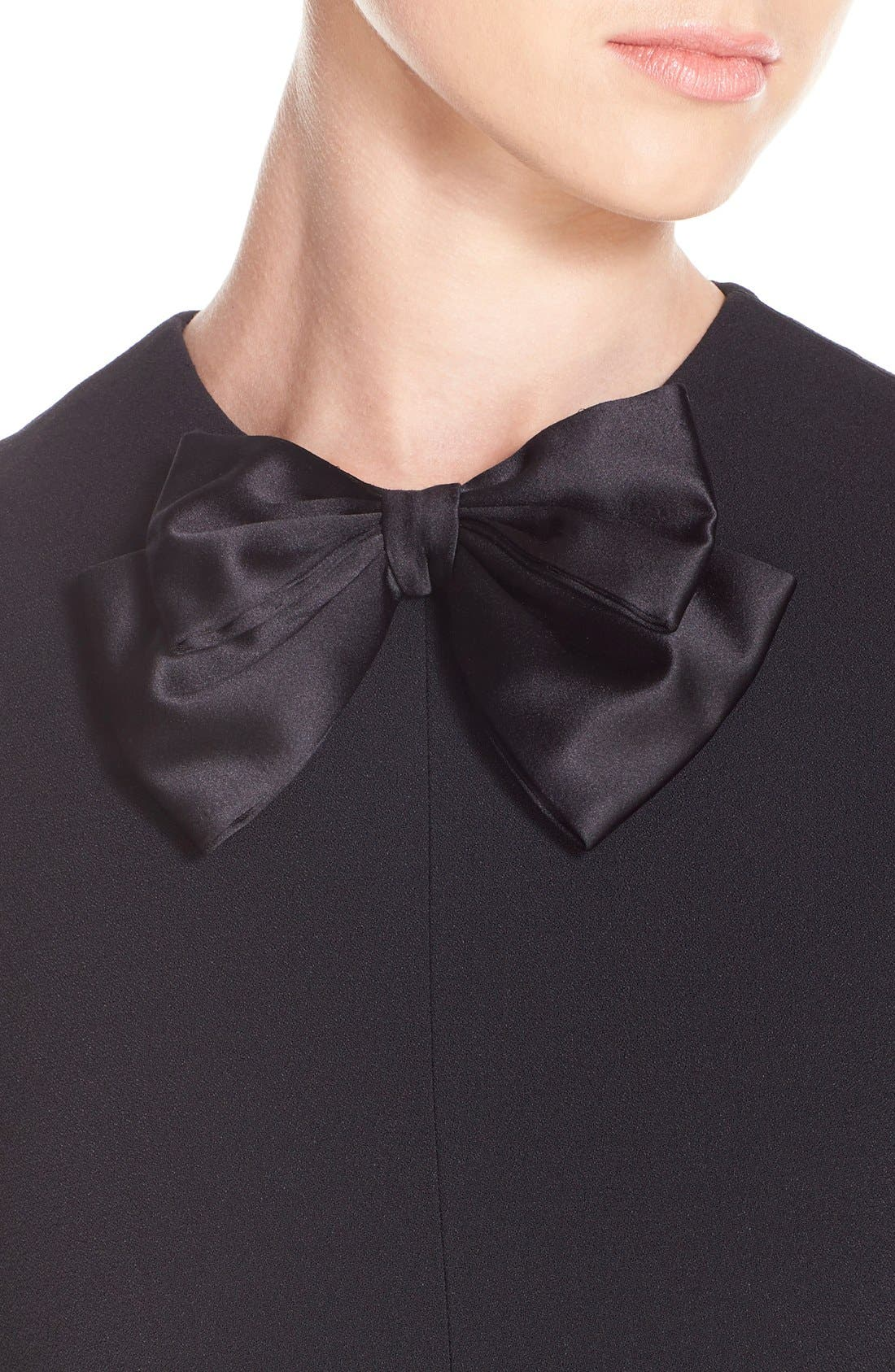 Alternate Image 6  - Saint Laurent Ruffle Trim Crepe Sable Babydoll Dress