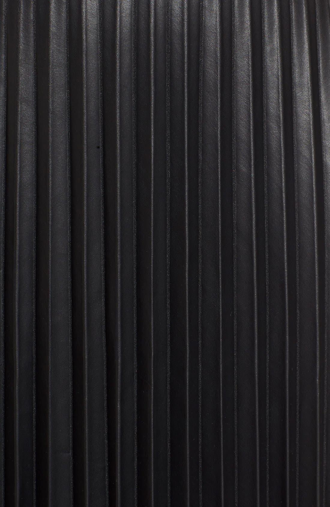 Alternate Image 5  - Trouvé Faux Leather Pleat Skirt