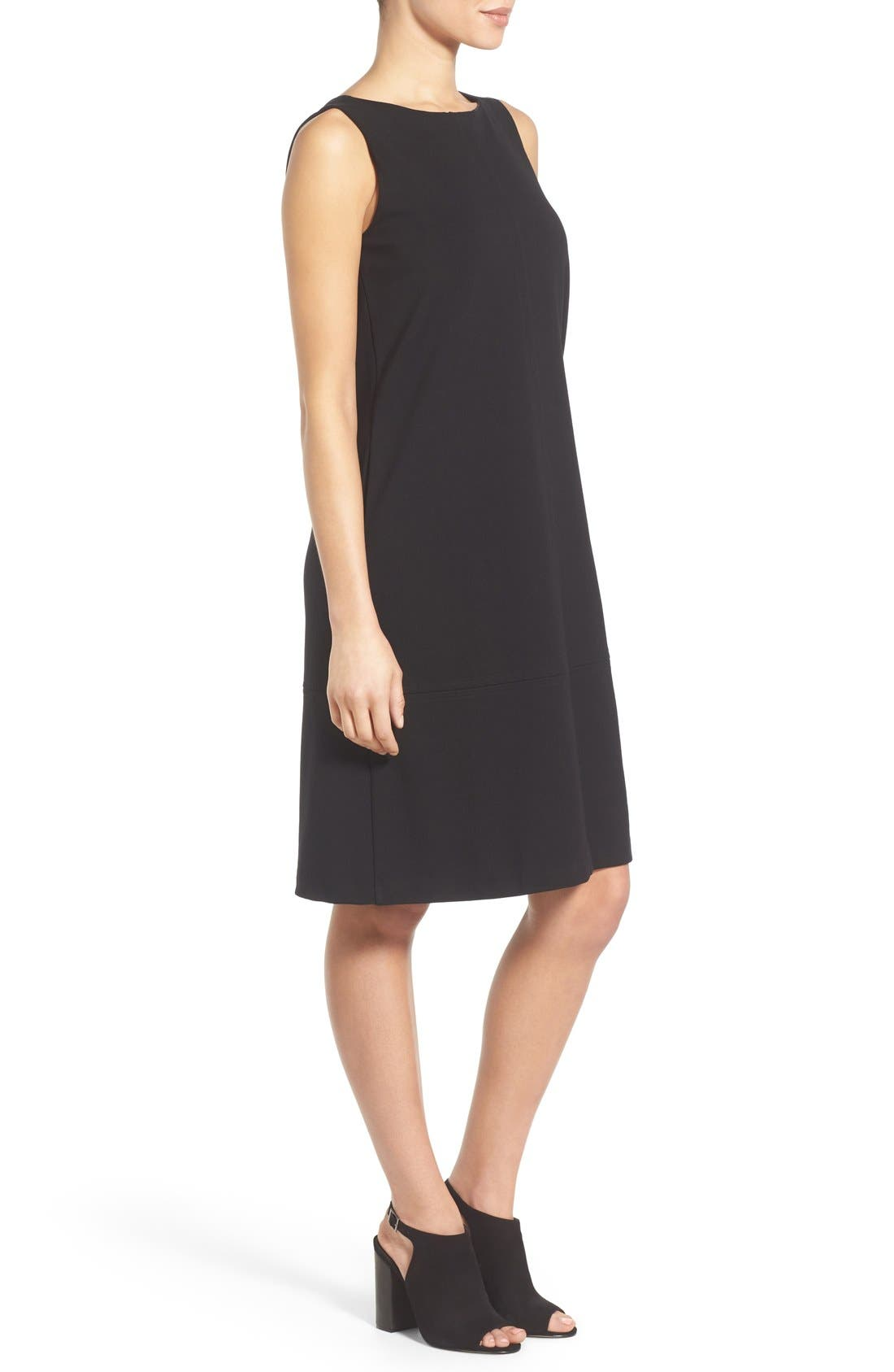 Alternate Image 3  - Eileen Fisher Bateau Neck Drop Waist Shift Dress (Regular & Petite)