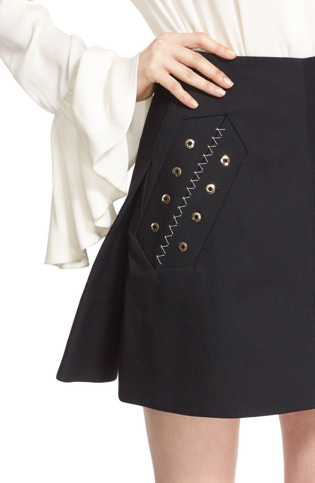 Alternate Image 6  - ELLERY 'Helena' Eyelet Detail Miniskirt