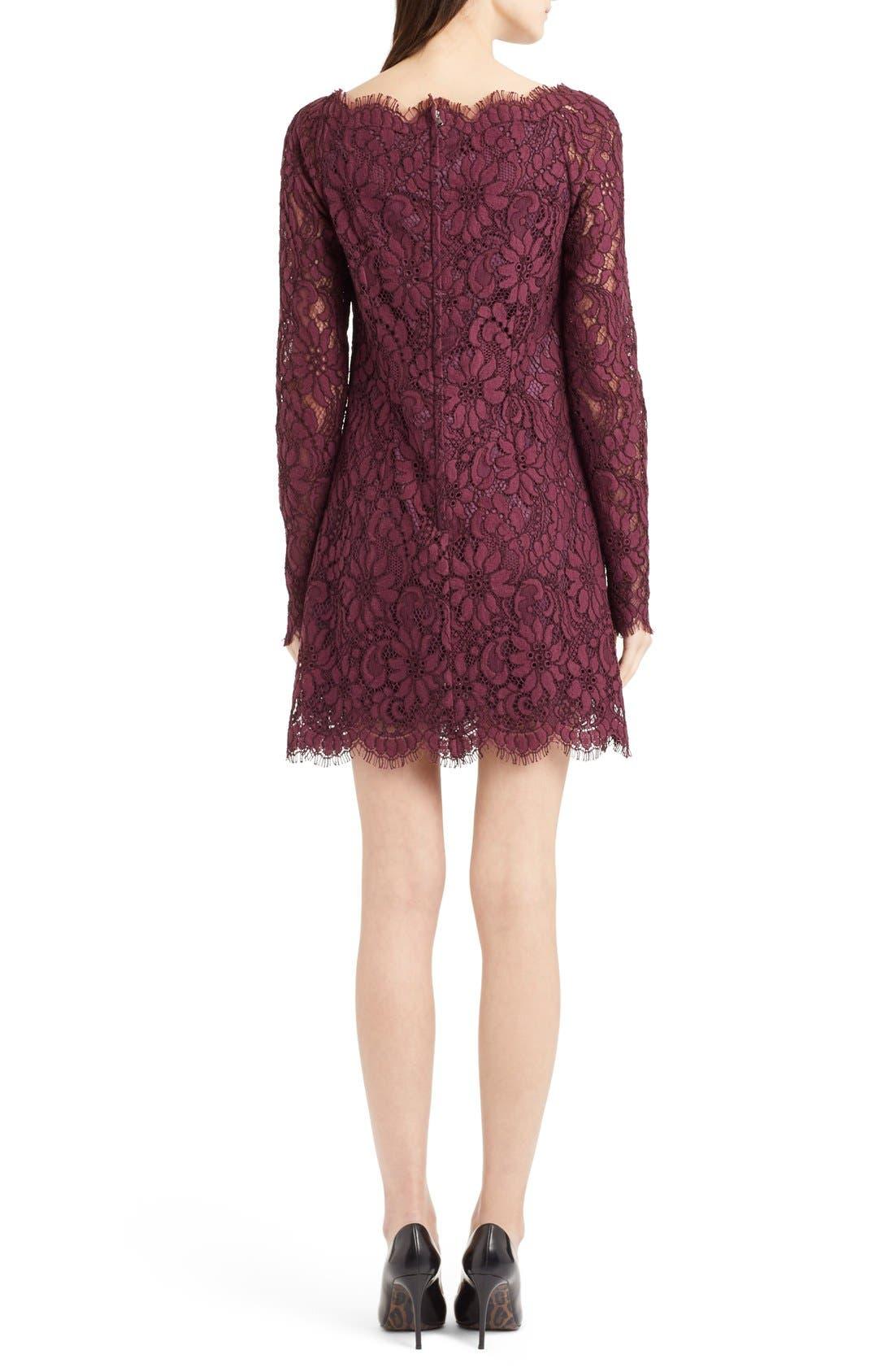 Alternate Image 2  - Dolce&Gabbana Scoop Neck Lace Shift Dress