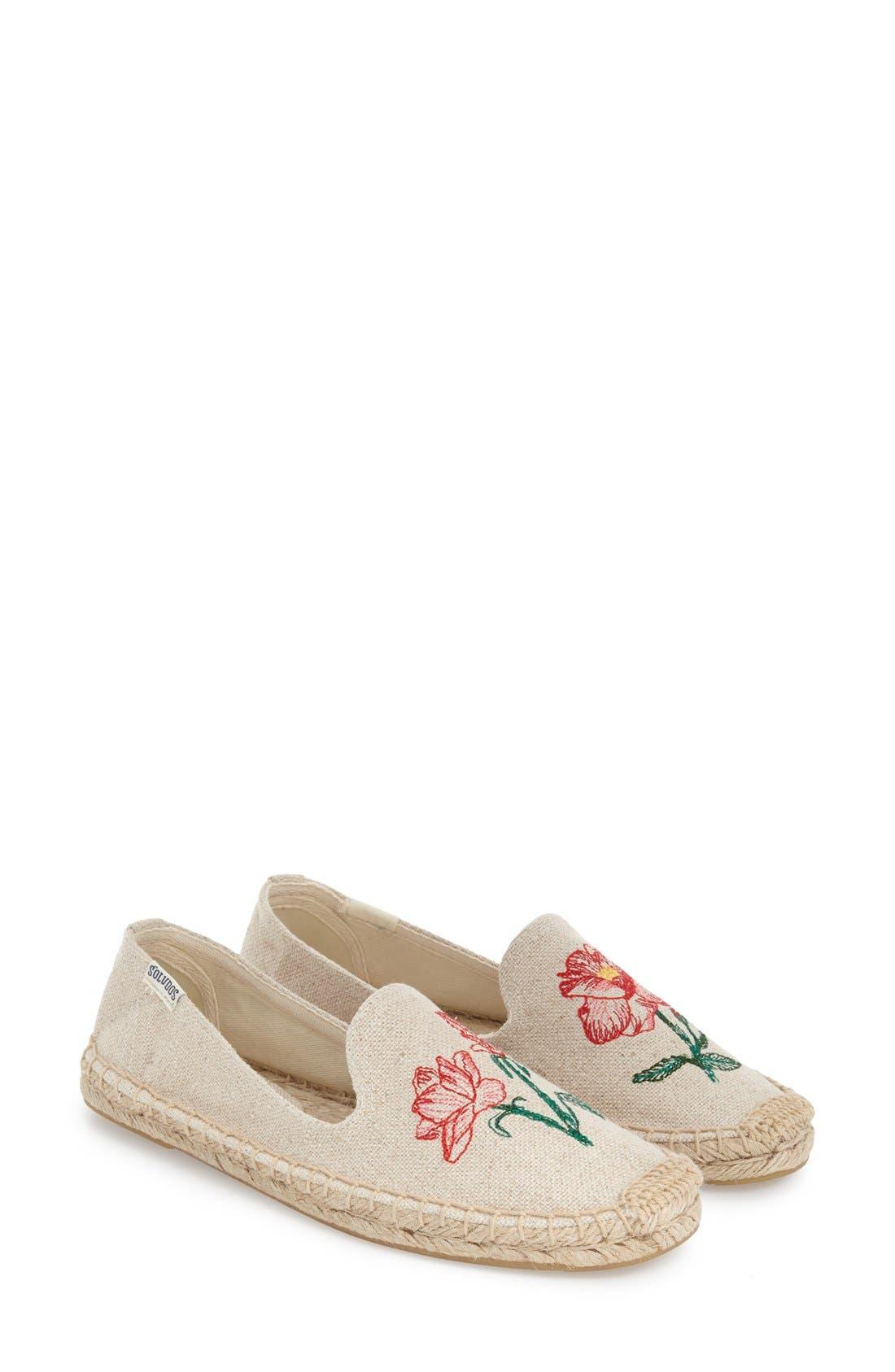 Alternate Image 2  - Soludos Floral Embroidered Espadrille Slip-On (Women)
