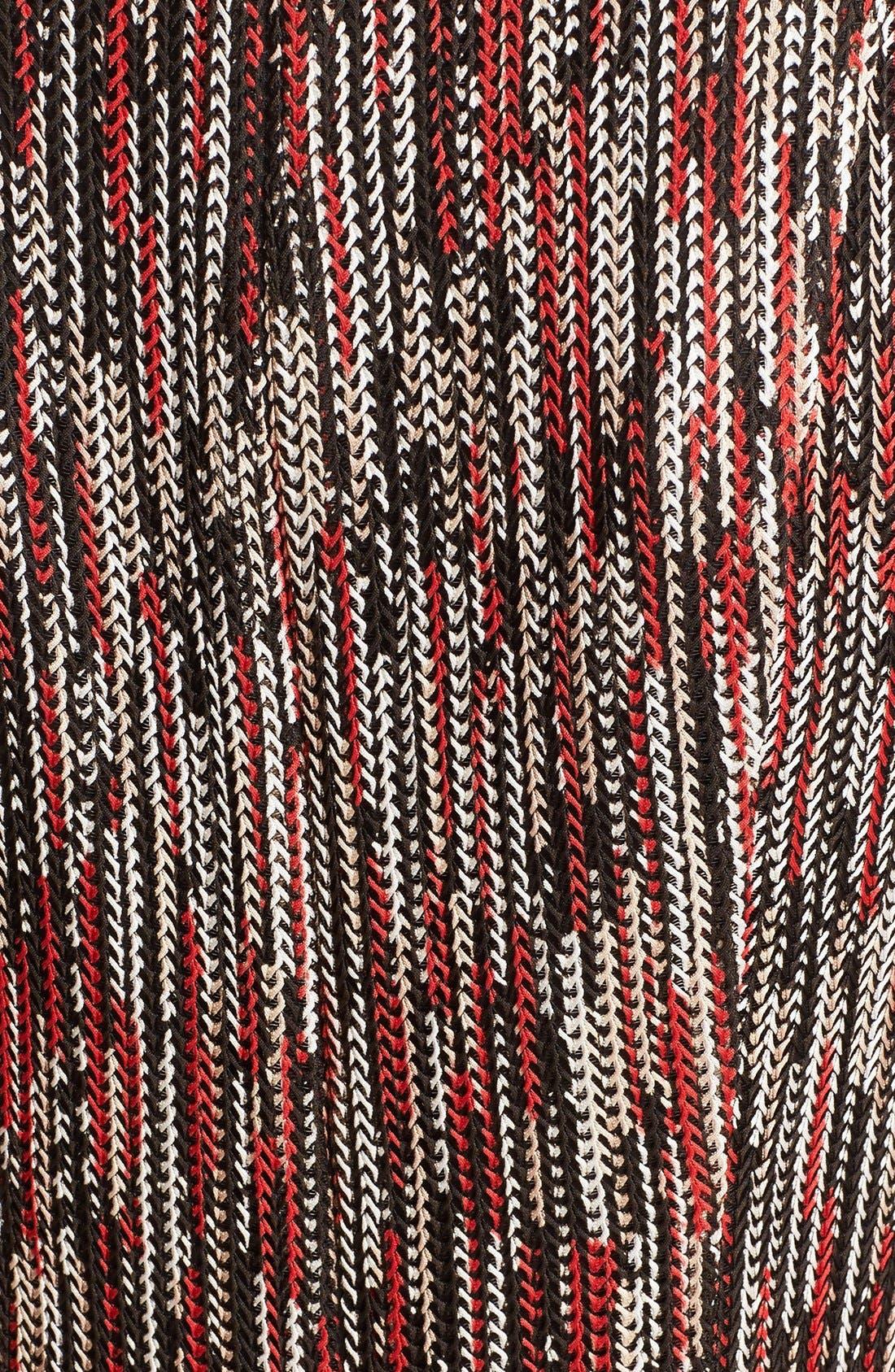 Alternate Image 5  - Alice + Olivia 'Gwyneth' Print Tie Neck Fit & Flare Dress