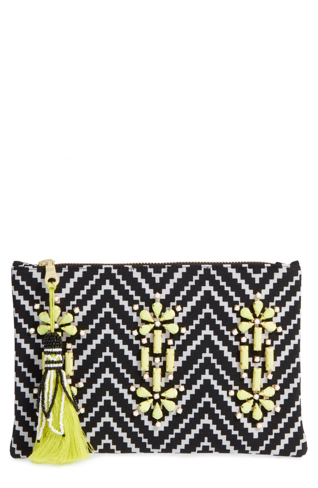 Alternate Image 1 Selected - Shiraleah 'Asta' Embellished Zip Pouch