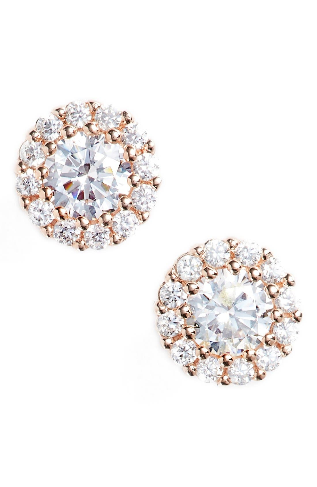 Nordstrom Precious Metal Plated 0.50ct tw Cubic Zirconia Stud Earrings