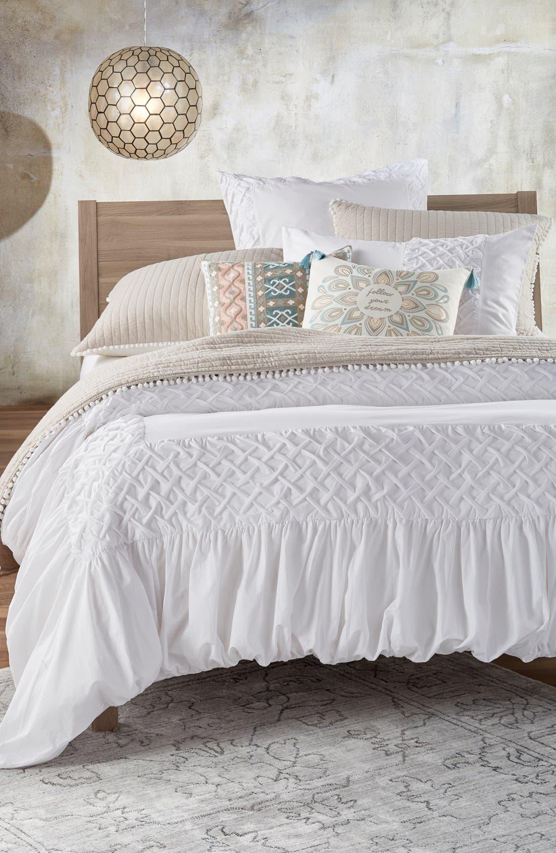 Alternate Image 2  - Nordstrom at Home 'Cady' Smocked Weave Duvet Cover