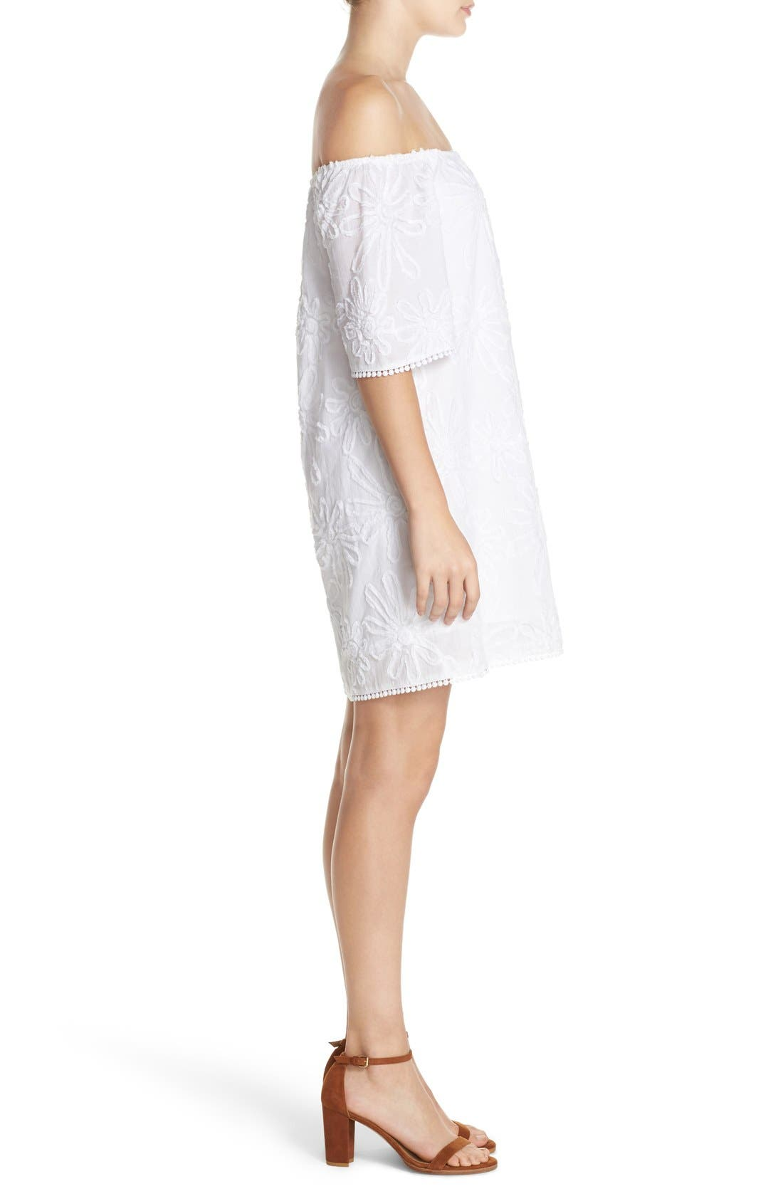 Alternate Image 3  - BB Dakota 'Marnie' Off the Shoulder Gauze Shift Dress