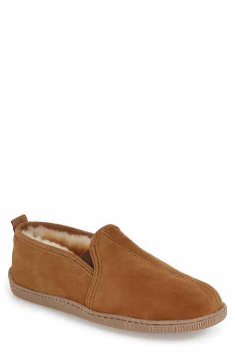 Minnetonka Genuine Shearling Lined Slipper (Men)