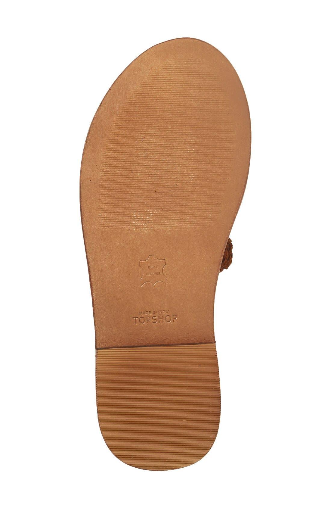 Alternate Image 4  - Topshop 'Faraday' Lace-Up Gladiator Sandal (Women)