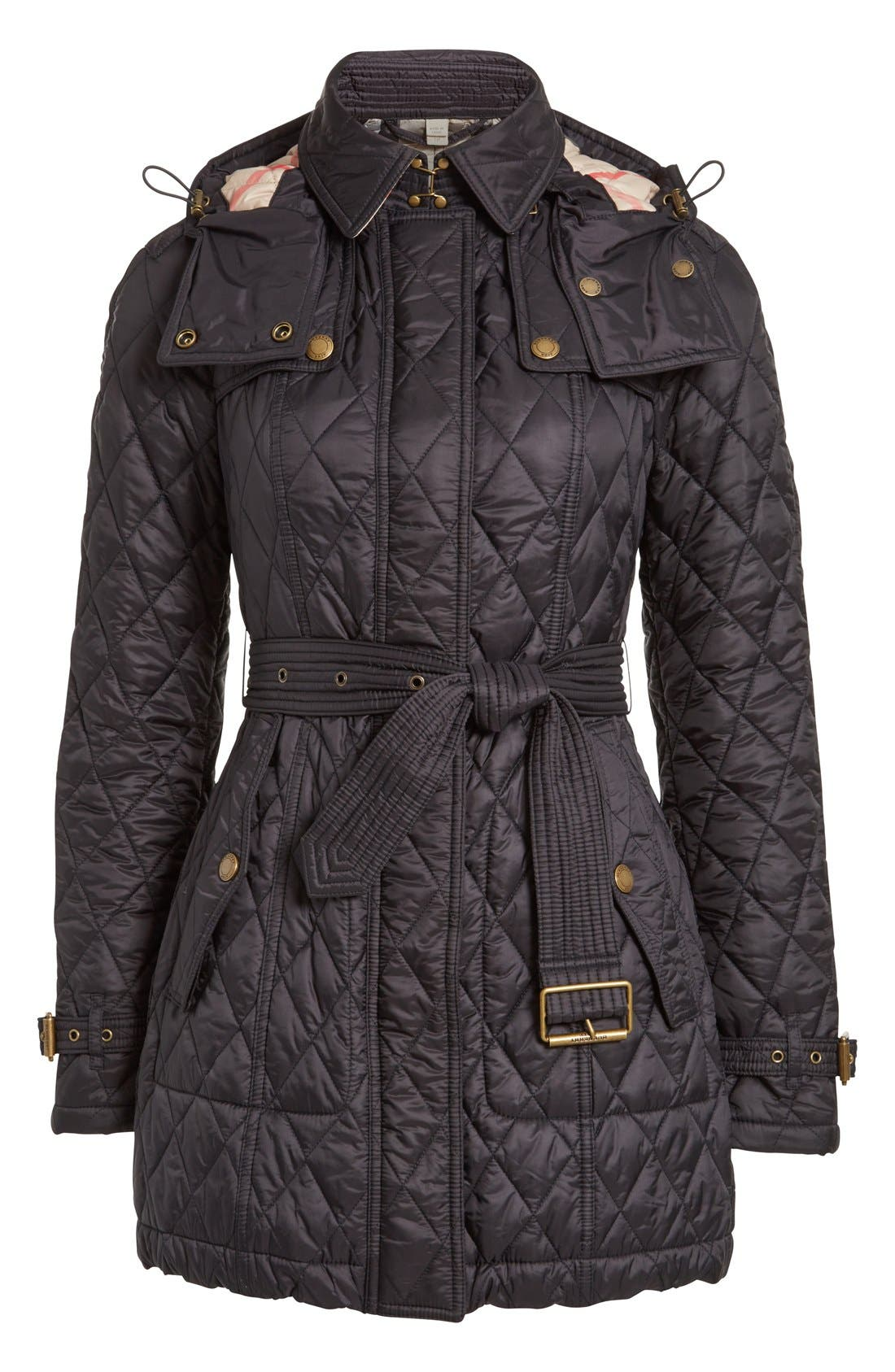 Alternate Image 4  - Burberry Finsbridge Belted Quilted Jacket