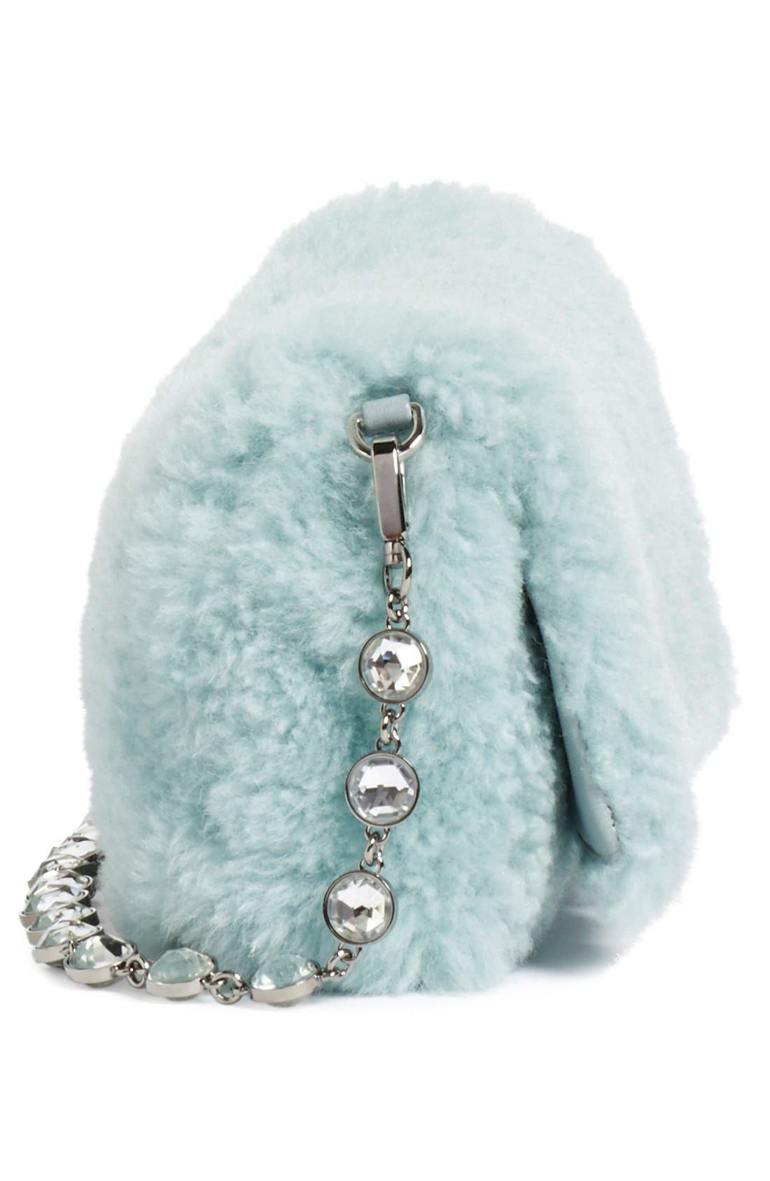 Alternate Image 4  - Miu Miu Small Genuine Shearling Shoulder Bag