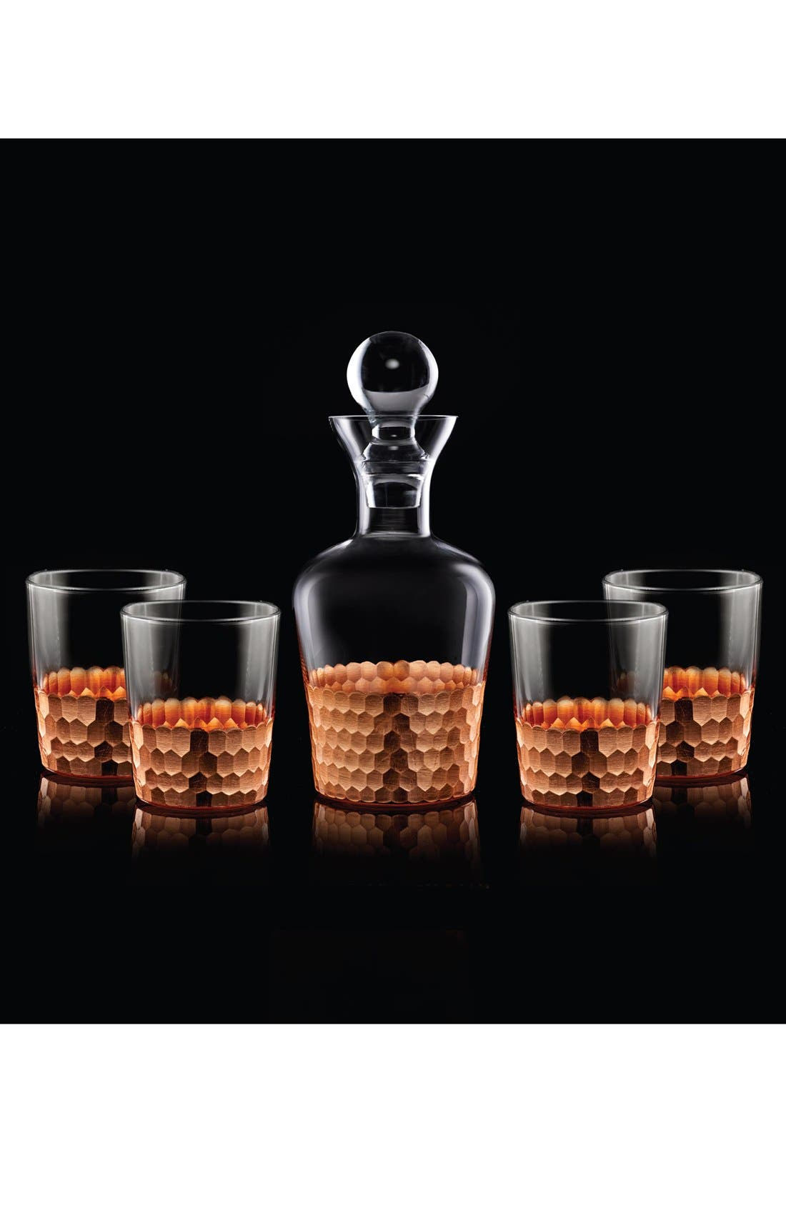 Alternate Image 2  - American Atelier 'Daphne' 5-Piece Decanter & Whiskey Glasses Set