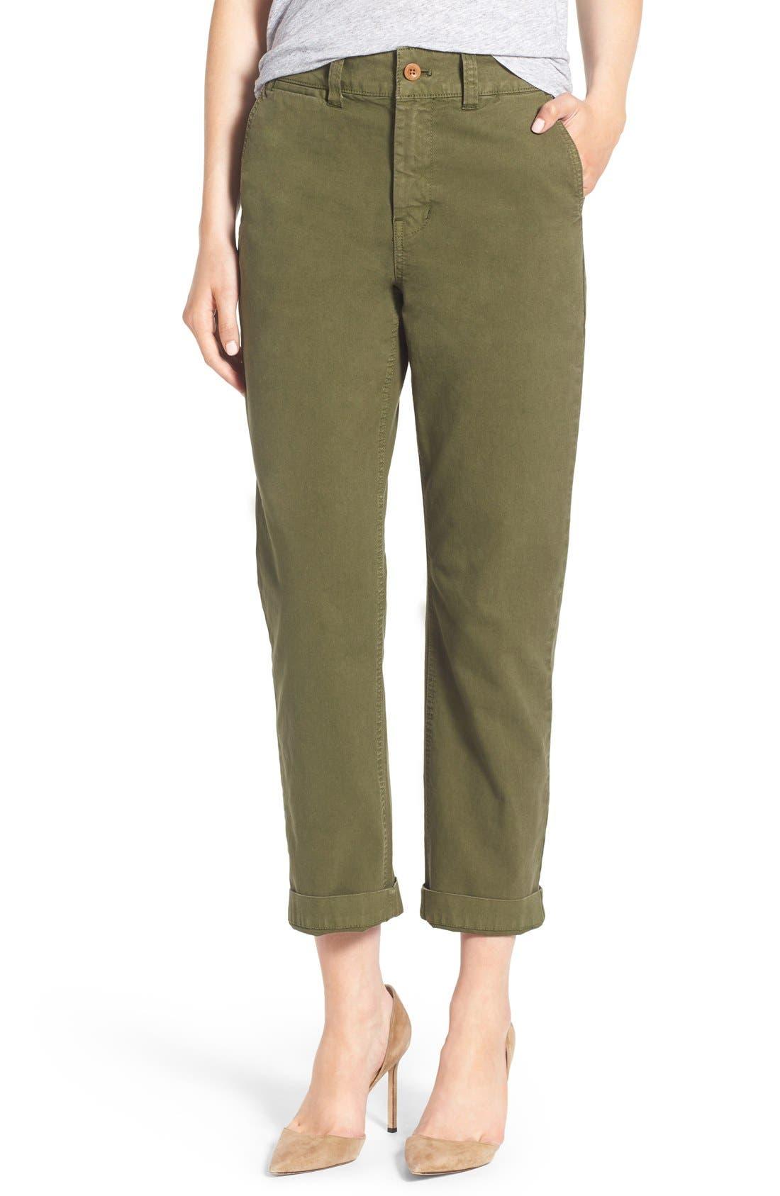Alternate Image 1 Selected - Madewell High Rise Straight Leg Chino Pants