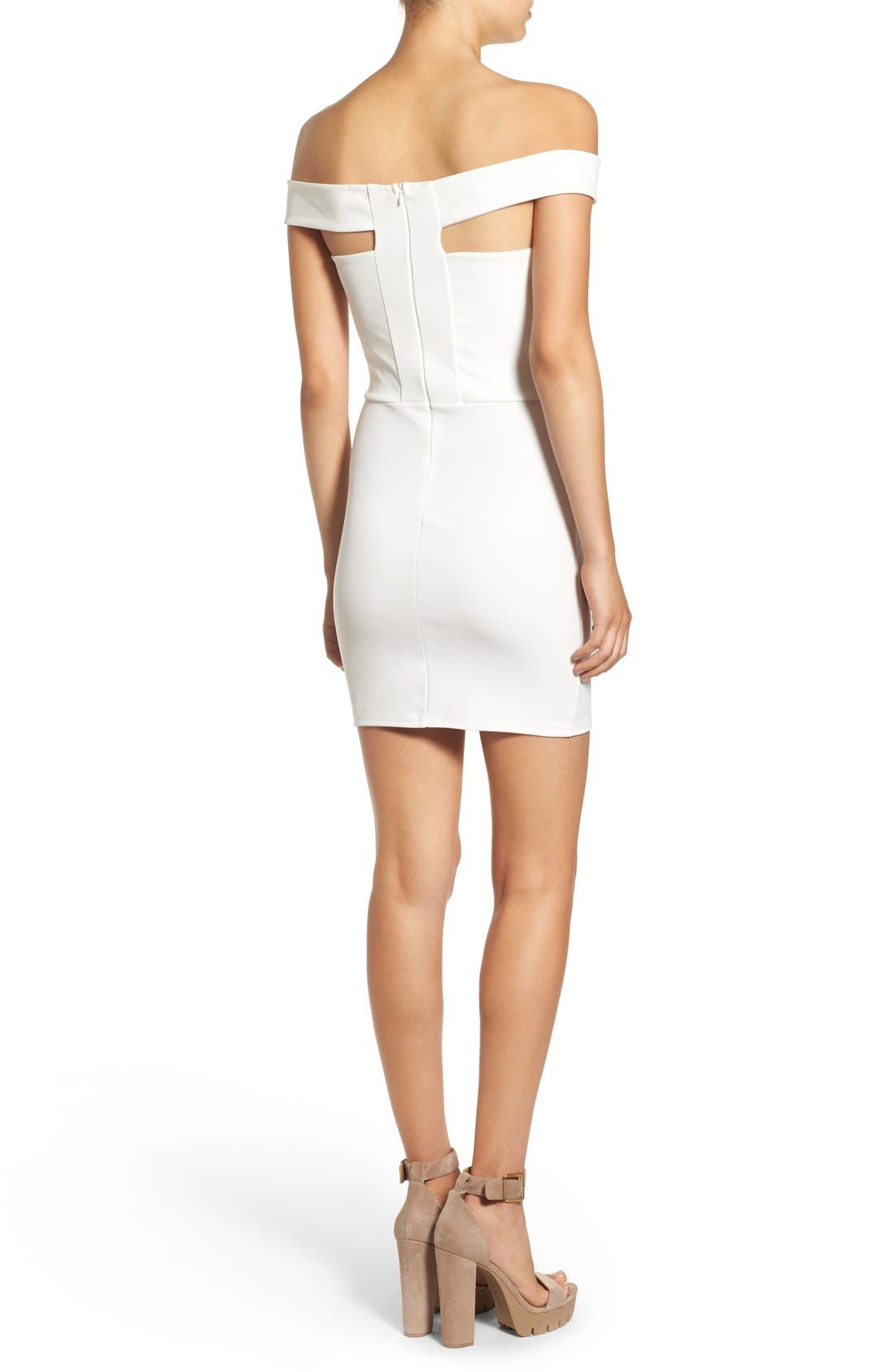 Alternate Image 2  - Missguided Cutout Off the Shoulder Body-Con Dress