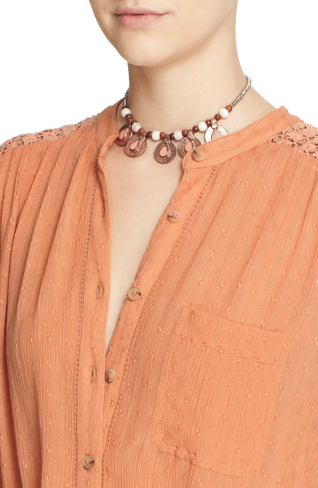 Alternate Image 4  - Free People 'The Best' Button Front Blouse