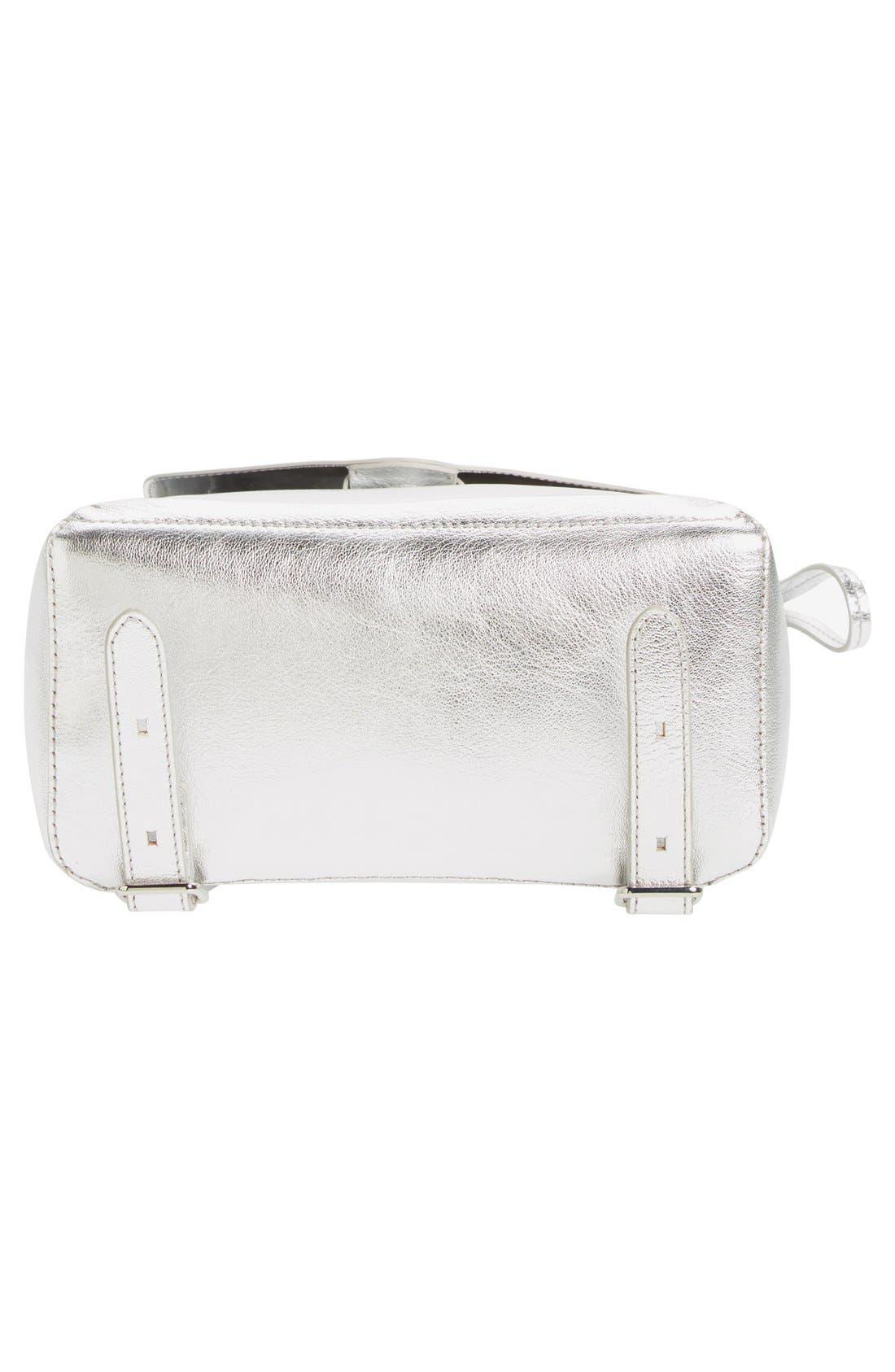 Alternate Image 6  - Loeffler Randall Mini Metallic Leather Backpack