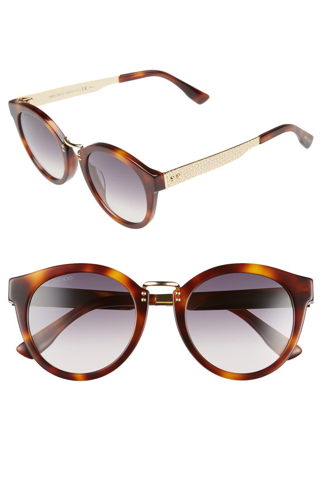 Main Image - Jimmy Choo 'Pepys' 50mm Retro Sunglasses
