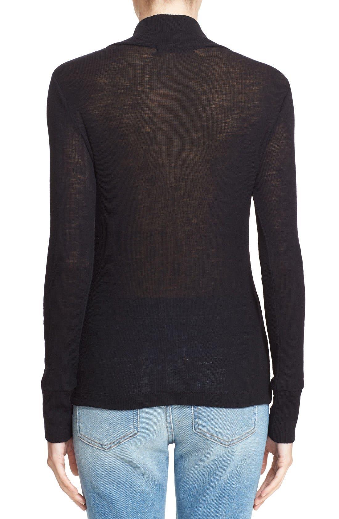 Alternate Image 2  - T by Alexander Wang Rib Knit Wool Sweater