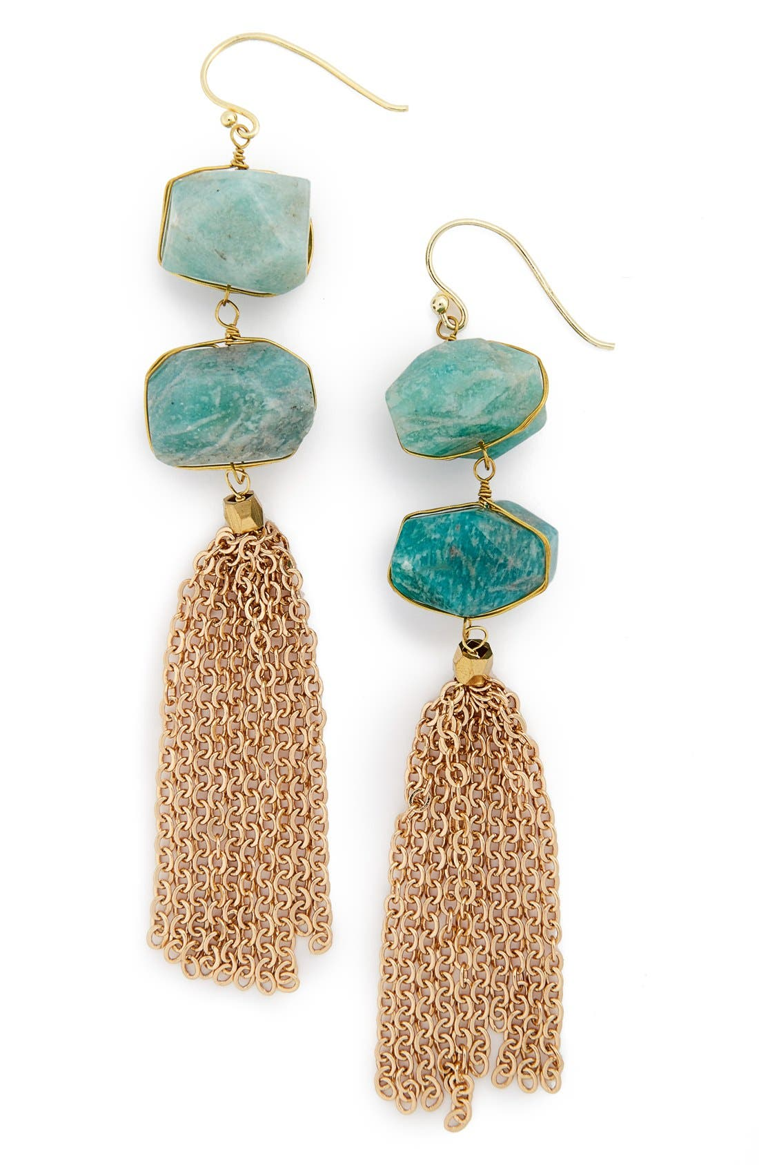 Alternate Image 1 Selected - Panacea Stone Tassel Earrings