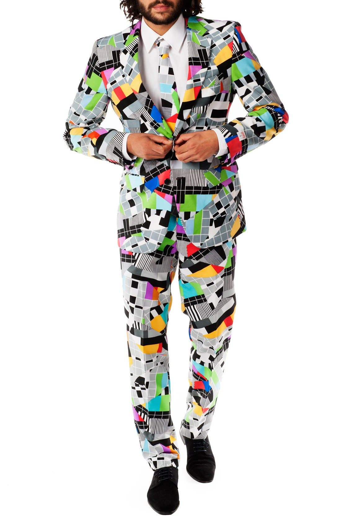OppoSuits 'Testival' Trim Fit Two-Piece Suit with Tie