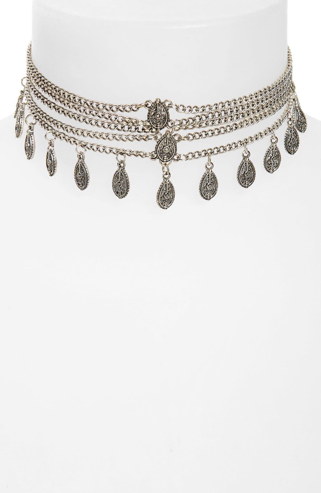 Main Image - Loren Olivia Multistrand Choker Necklace