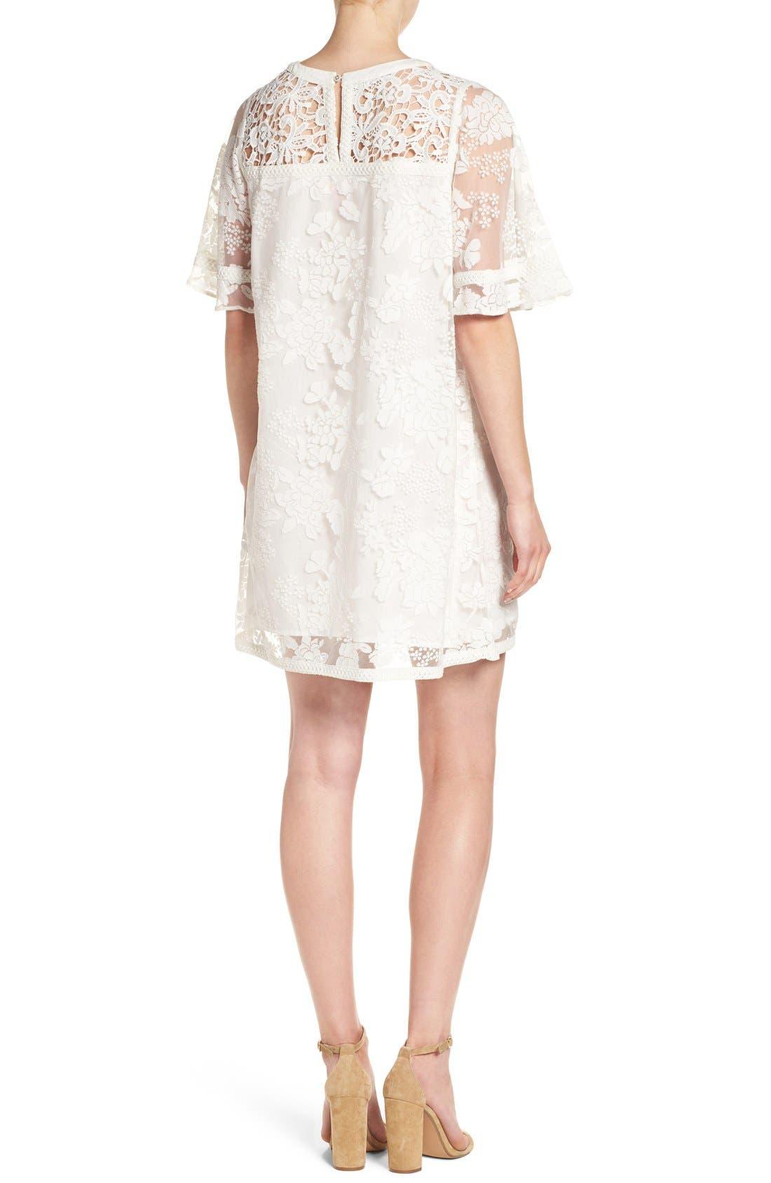 Alternate Image 2  - Catherine Catherine Malandrino 'Mel' Lace Babydoll Dress