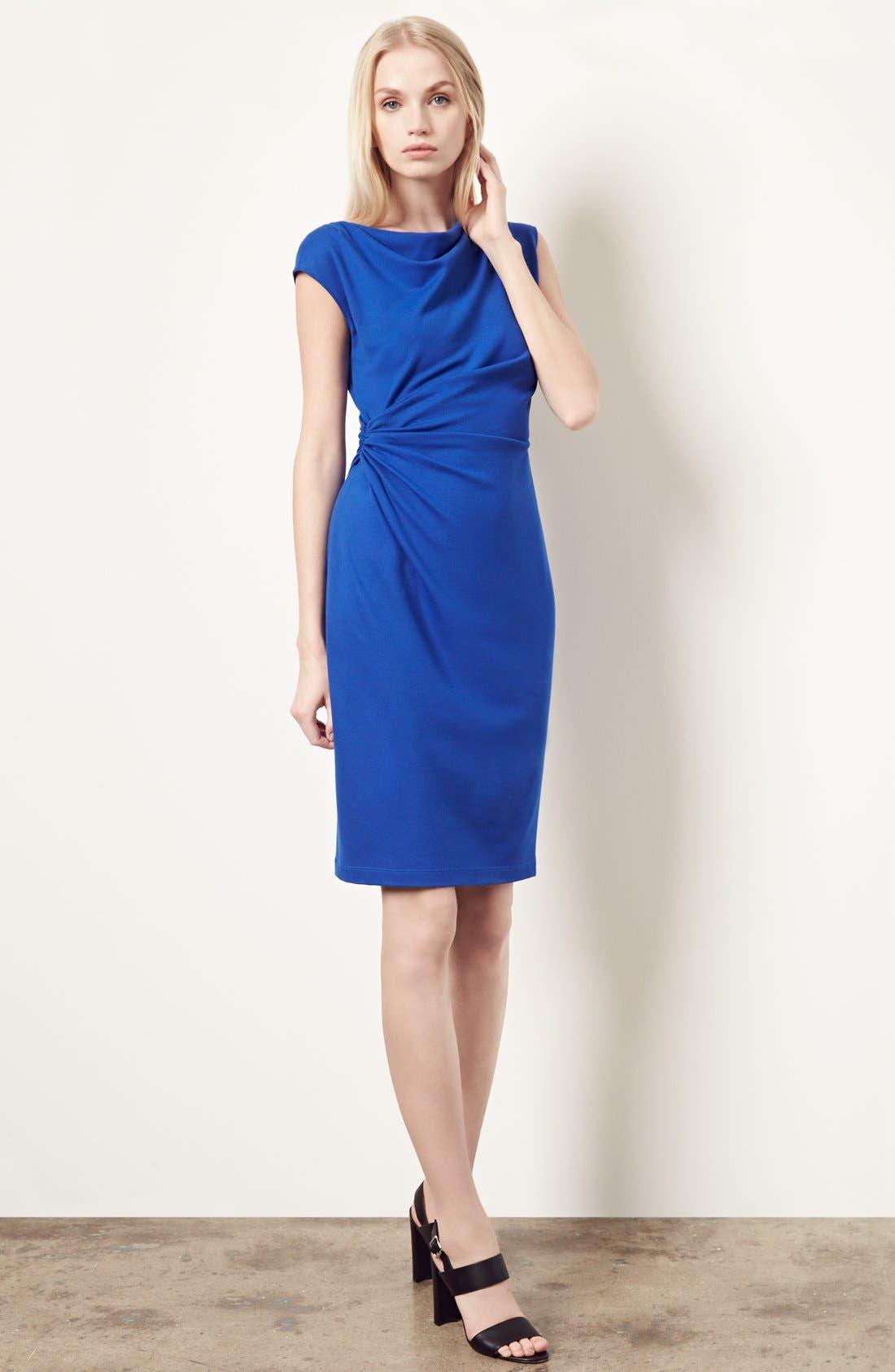 Alternate Image 7  - Lafayette 148 New York Drape Neck Ponte Dress (Regular & Petite)