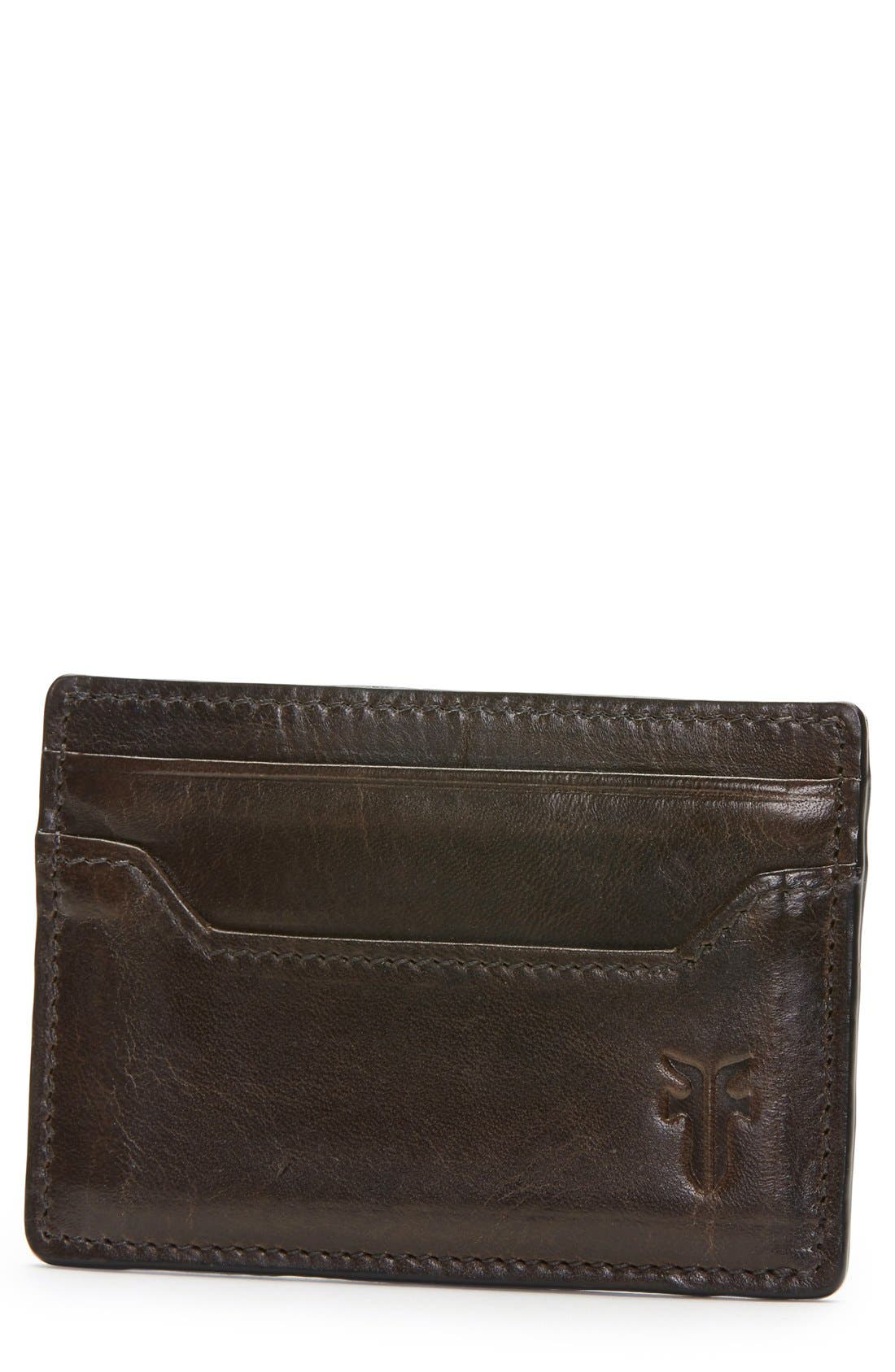 FRYE 'Logan' Leather Card Holder