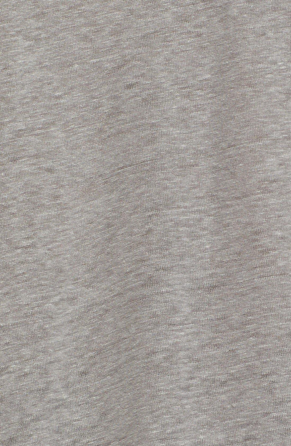 Alternate Image 5  - John Varvatos Collection V-Neck Linen T-Shirt