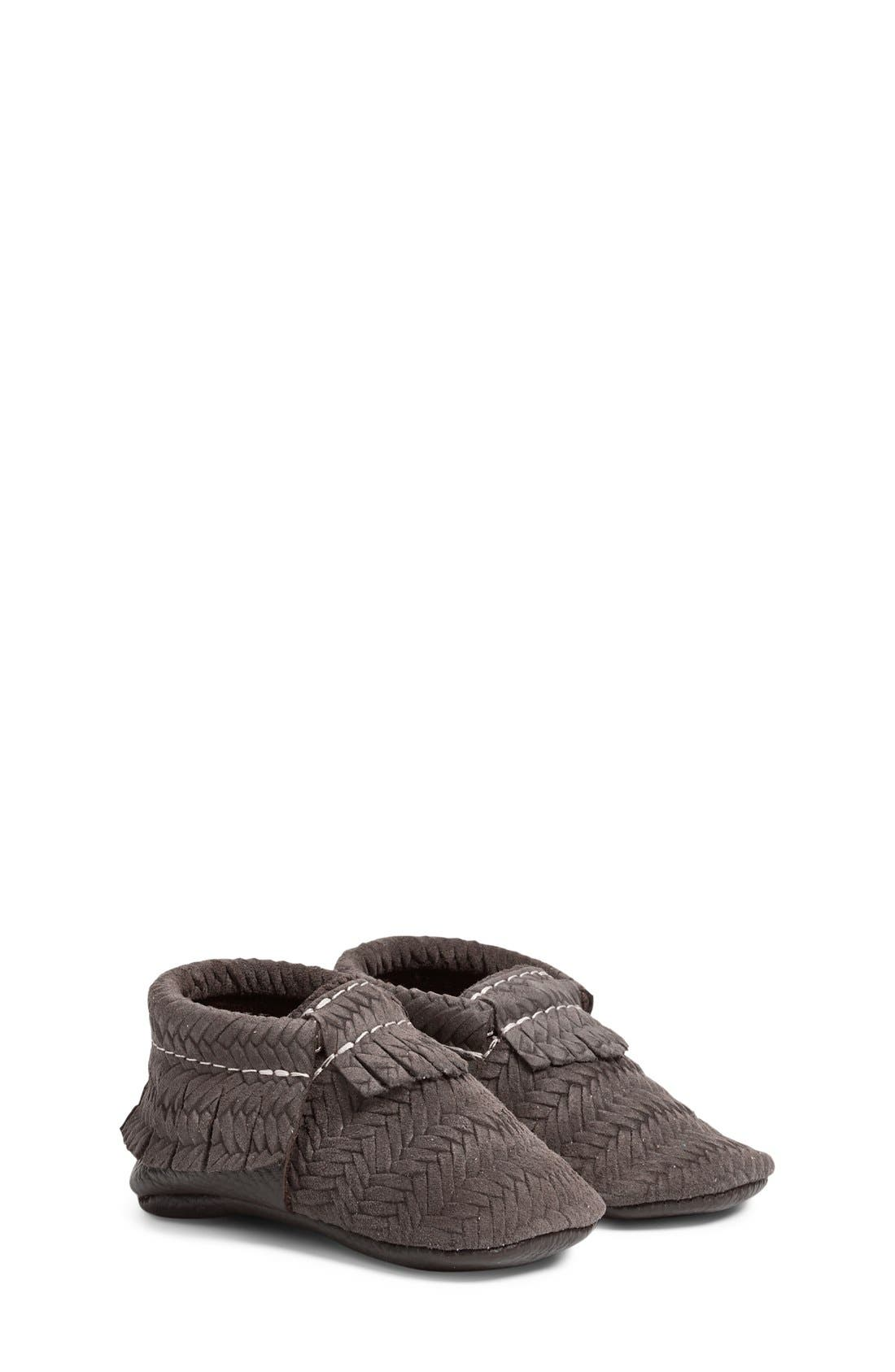 FRESHLY PICKED 'Sweater' Woven Leather Moccasin