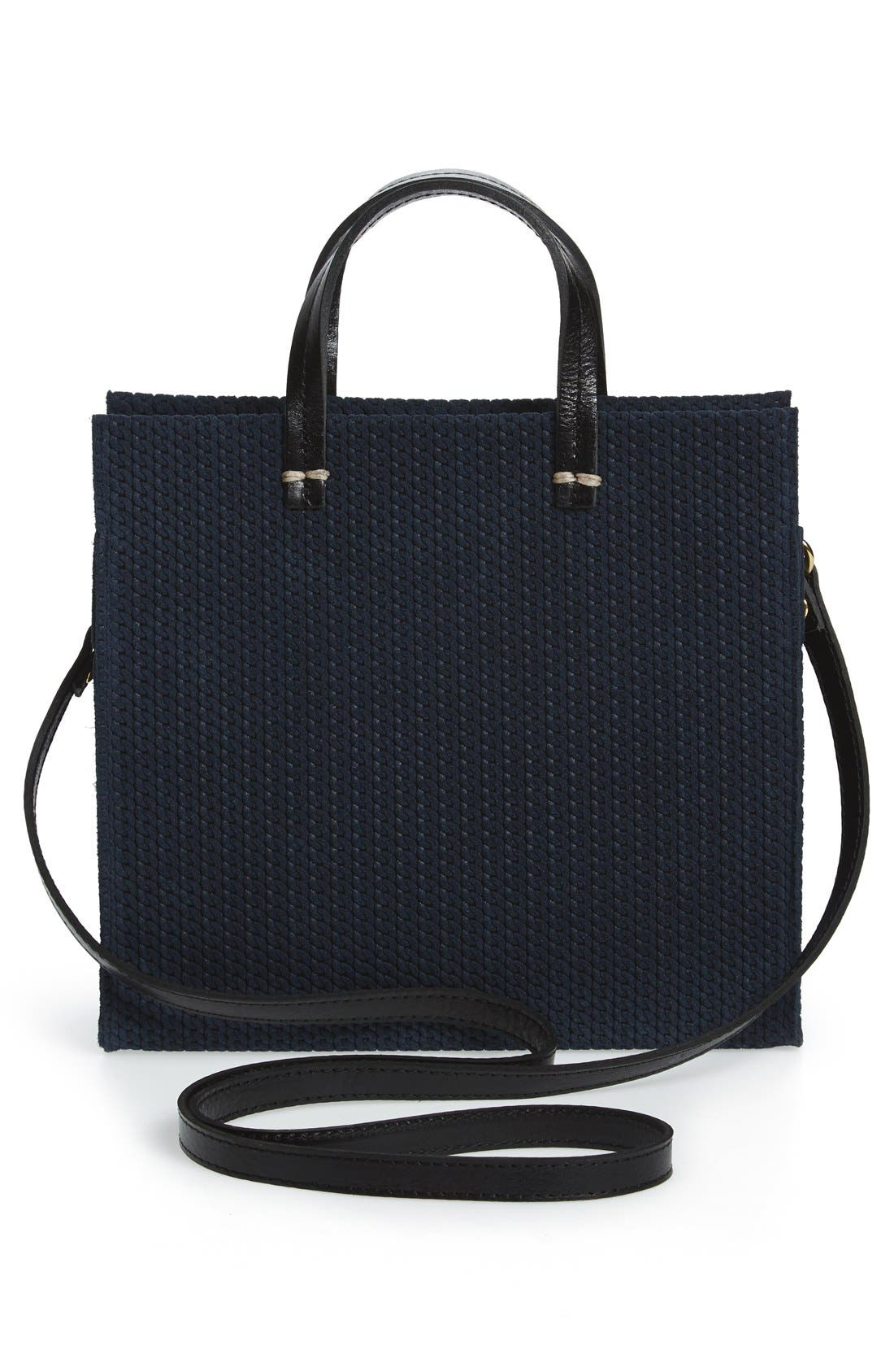 Alternate Image 3  - Clare V. 'Petite Simple - Marine Rope' Woven Suede Tote