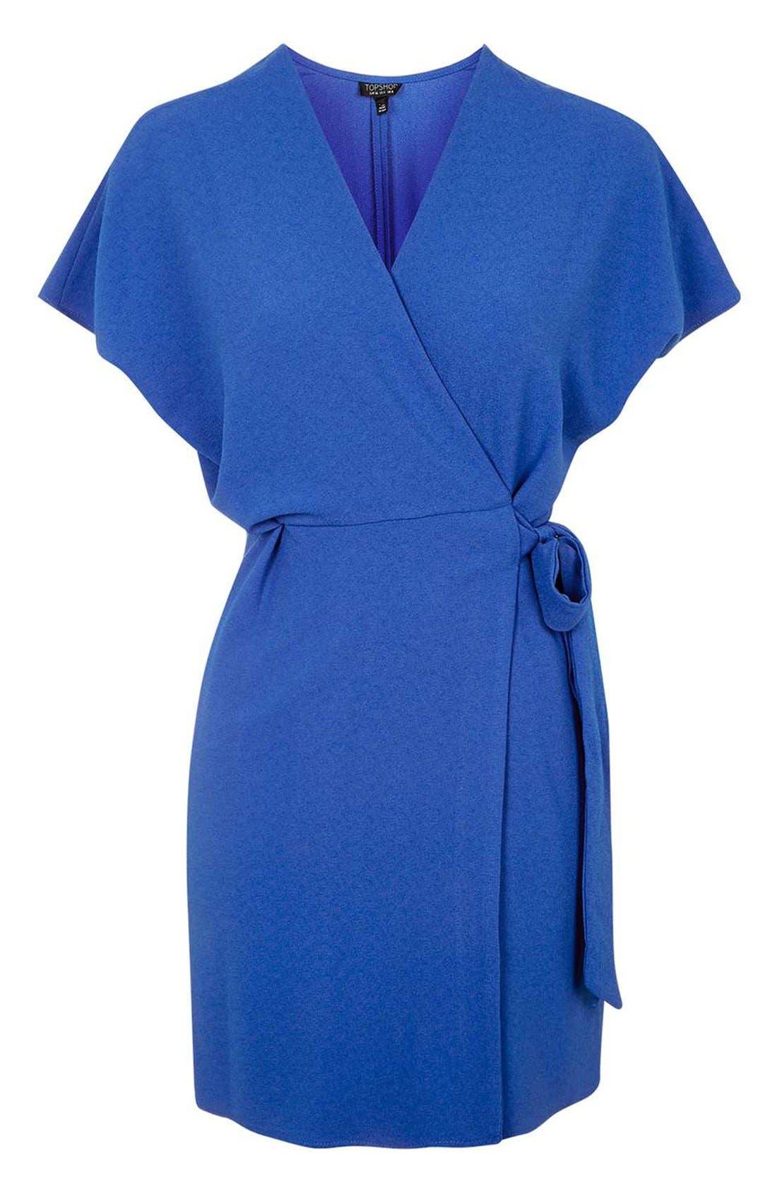 Alternate Image 4  - Topshop Tie Wrap Minidress
