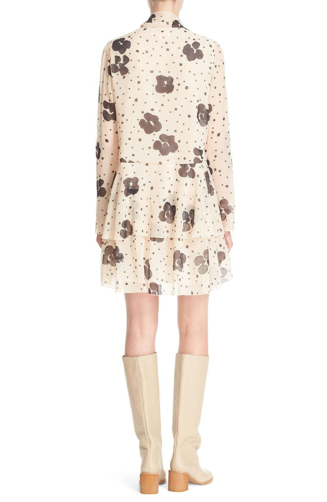 Alternate Image 2  - See by Chloé Leopard Print Silk Georgette Dress