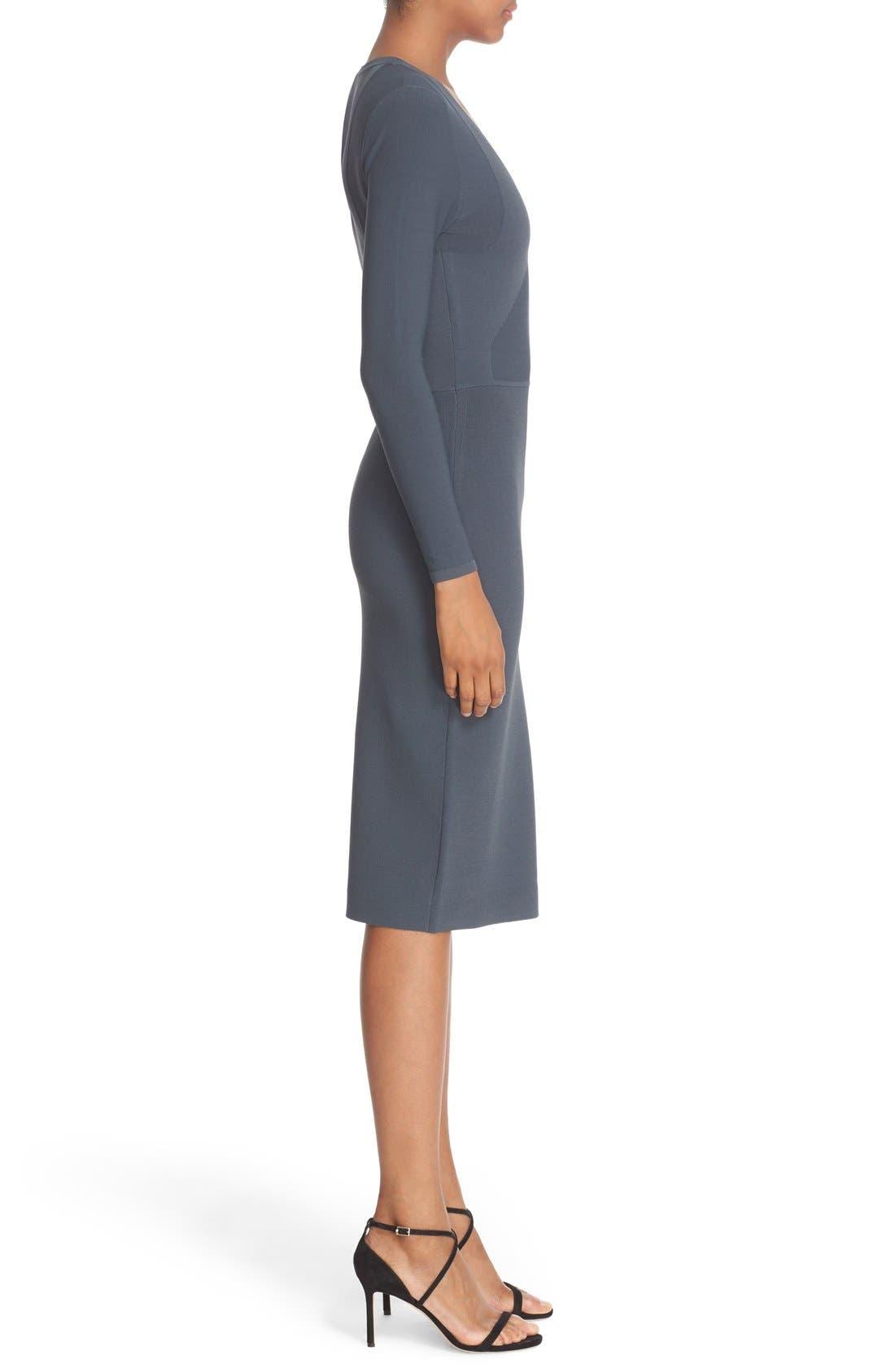 Alternate Image 5  - Narciso Rodriguez Double Knit Midi Sheath Dress