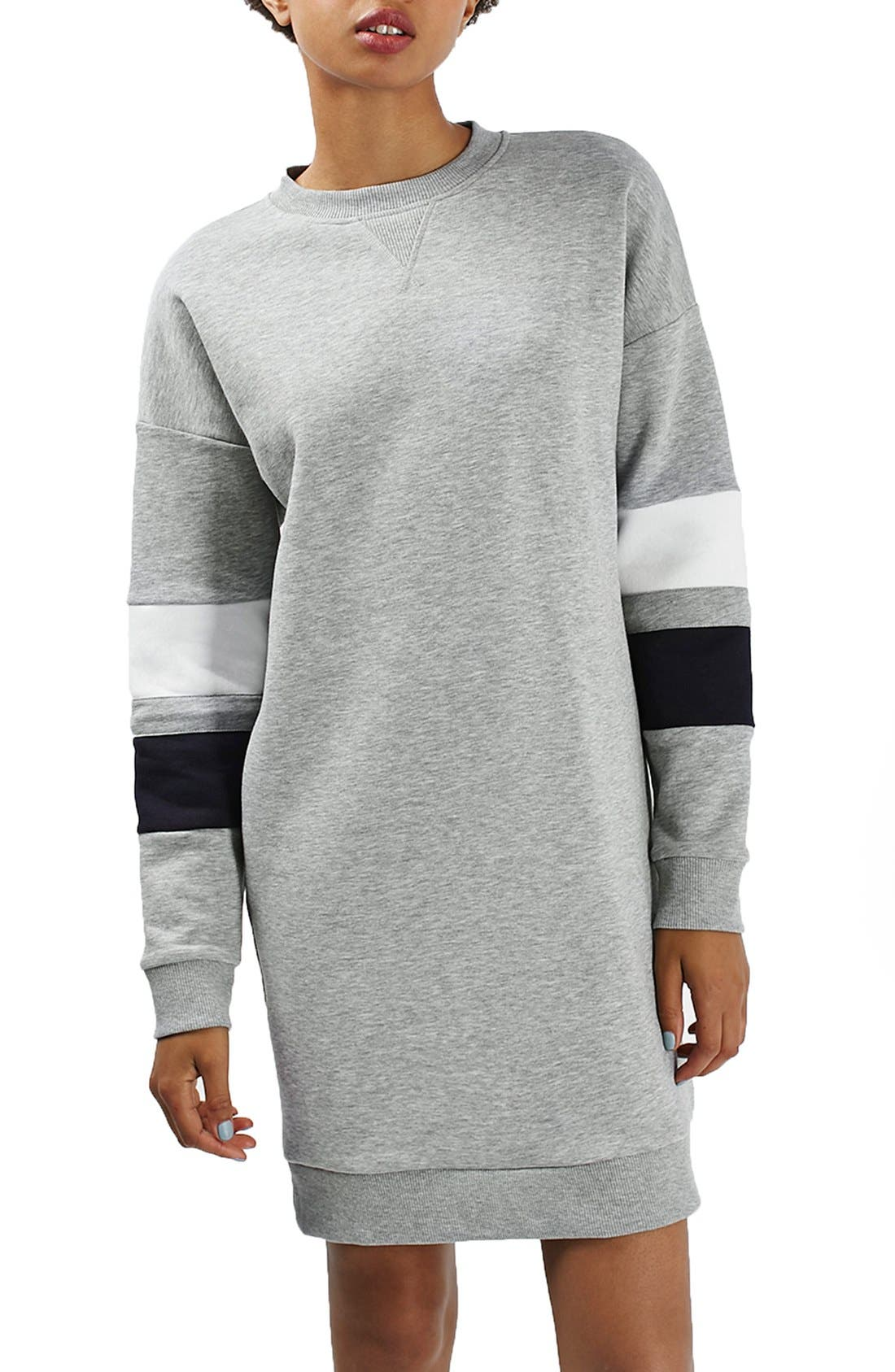 Main Image - Topshop Colorblock Sweatshirt Dress