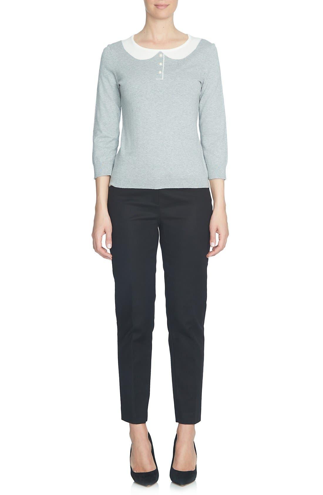 Alternate Image 2  - CeCe Intarsia Collar Sweater