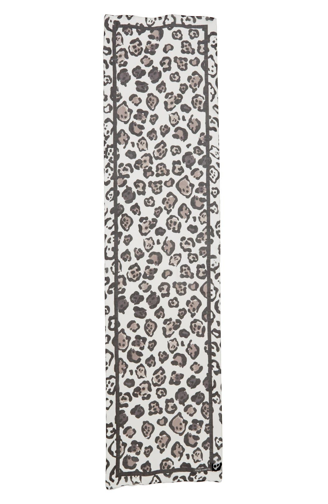 Alternate Image 2  - Vince Camuto Leopard Print Silk Scarf