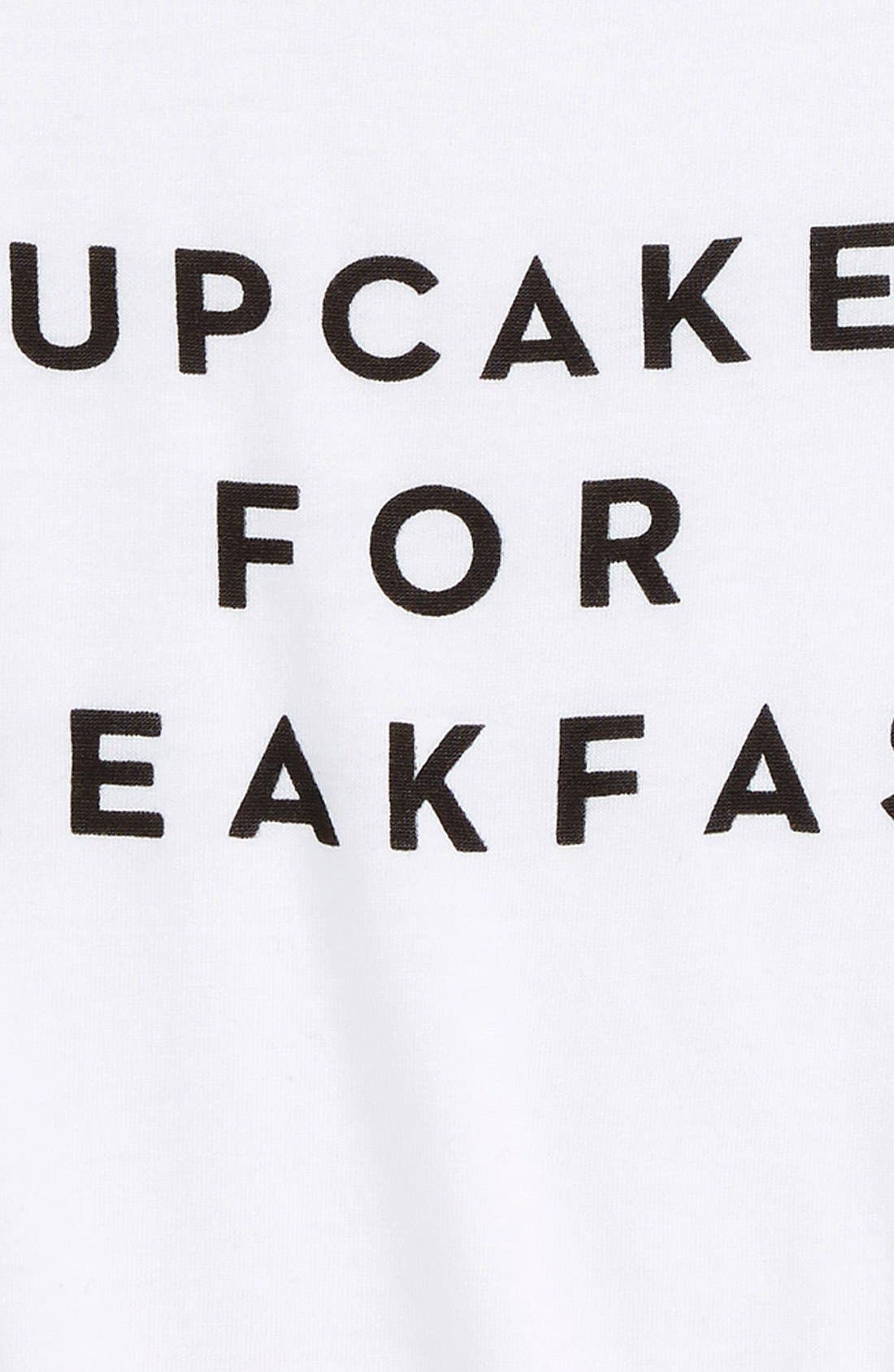 Alternate Image 2  - Milly Minis 'Cupcakes for Breakfast' Graphic Tee (Big Girls)
