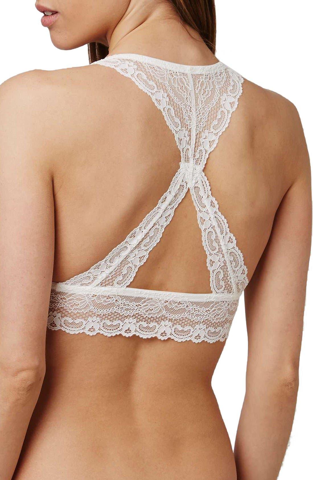 Alternate Image 2  - Topshop 'Cordelia' Corded Lace Bralette