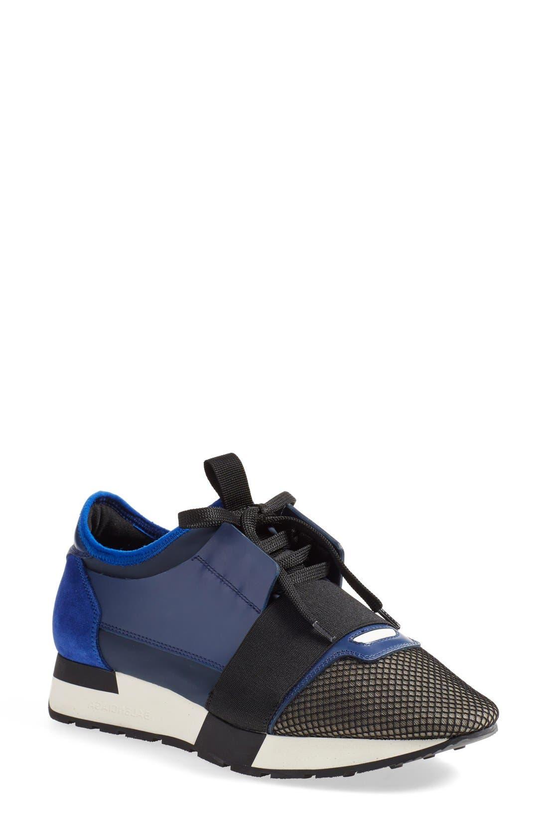 Main Image - Balenciaga Mixed Media Sneaker (Women)