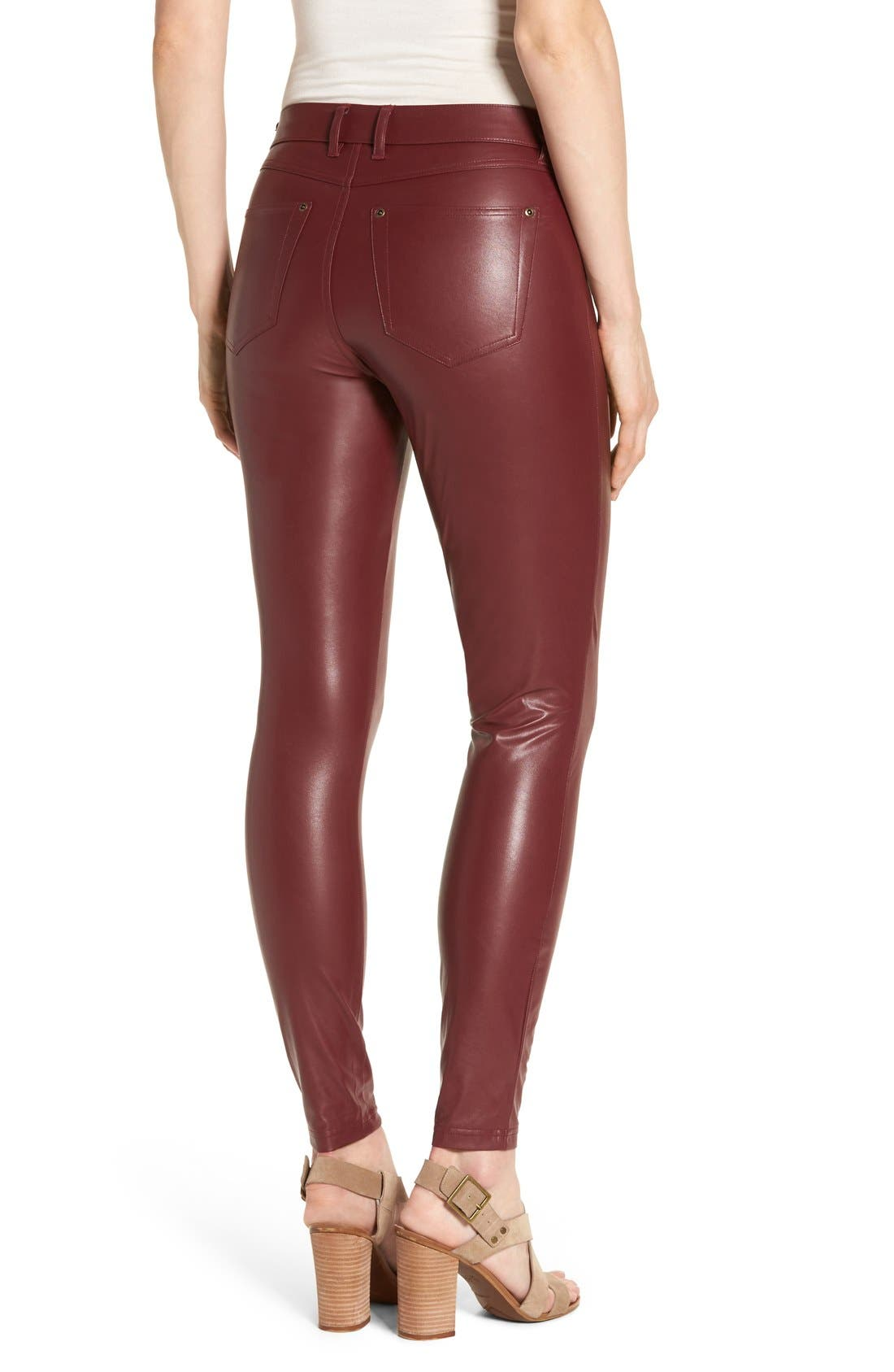 Alternate Image 2  - Hue 'Leatherette' Faux Leather Leggings