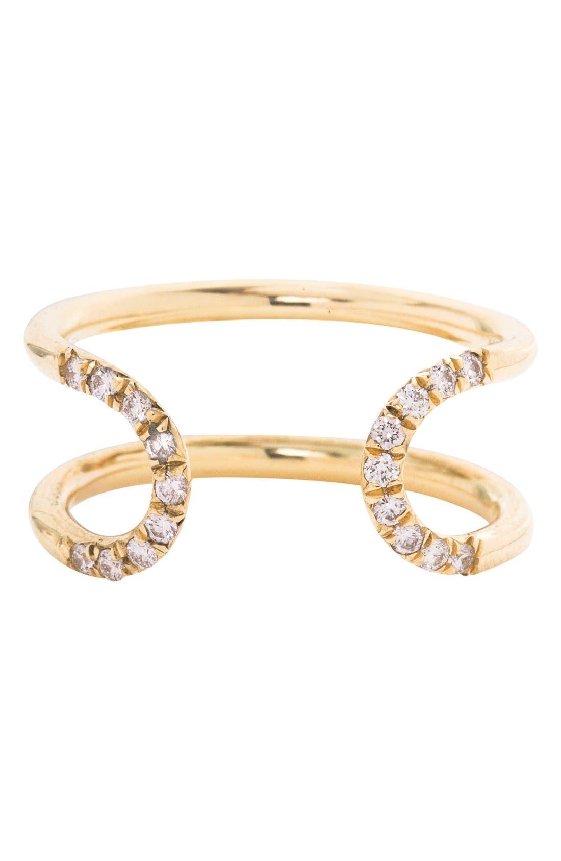 Alternate Image 1 Selected - MOCIUN 'Pavé Loop' Diamond Open Ring